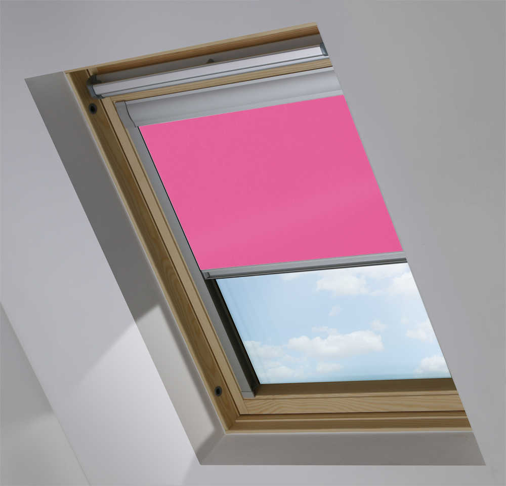 Made-To-Measure Premium Skylight Blind in Sugar Pink Blackout