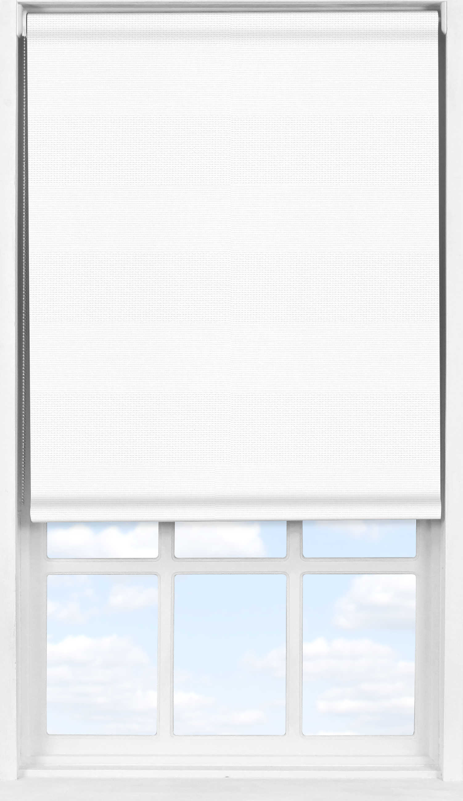 Easifit Roller Blind in Cotton White Transparent