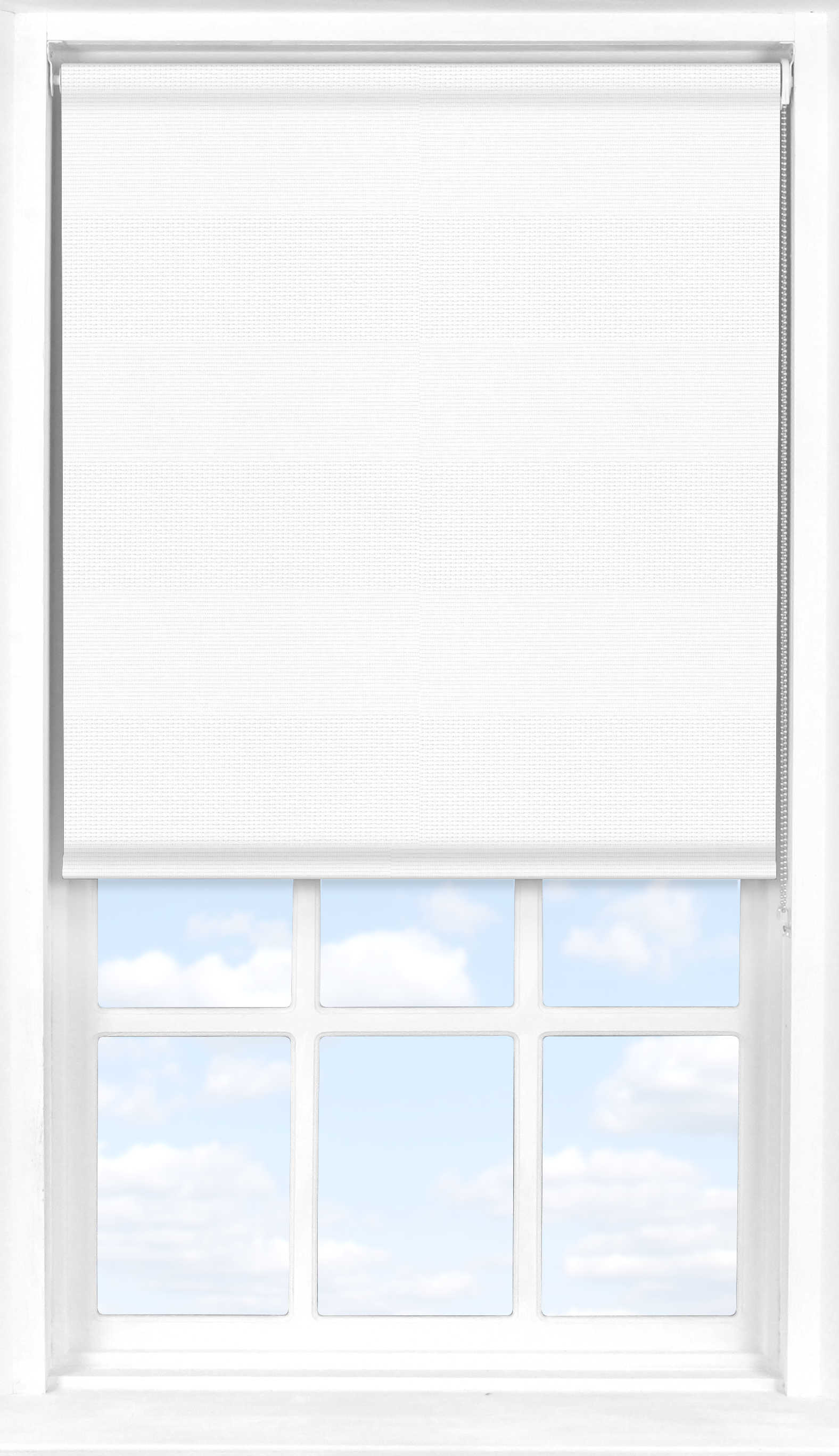 Roller Blind in Cotton White Transparent