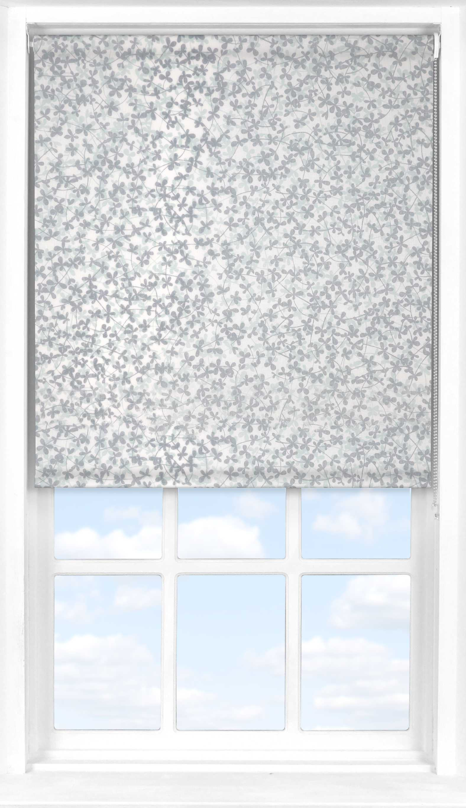 Roller Blind in Meadow Winter Transparent