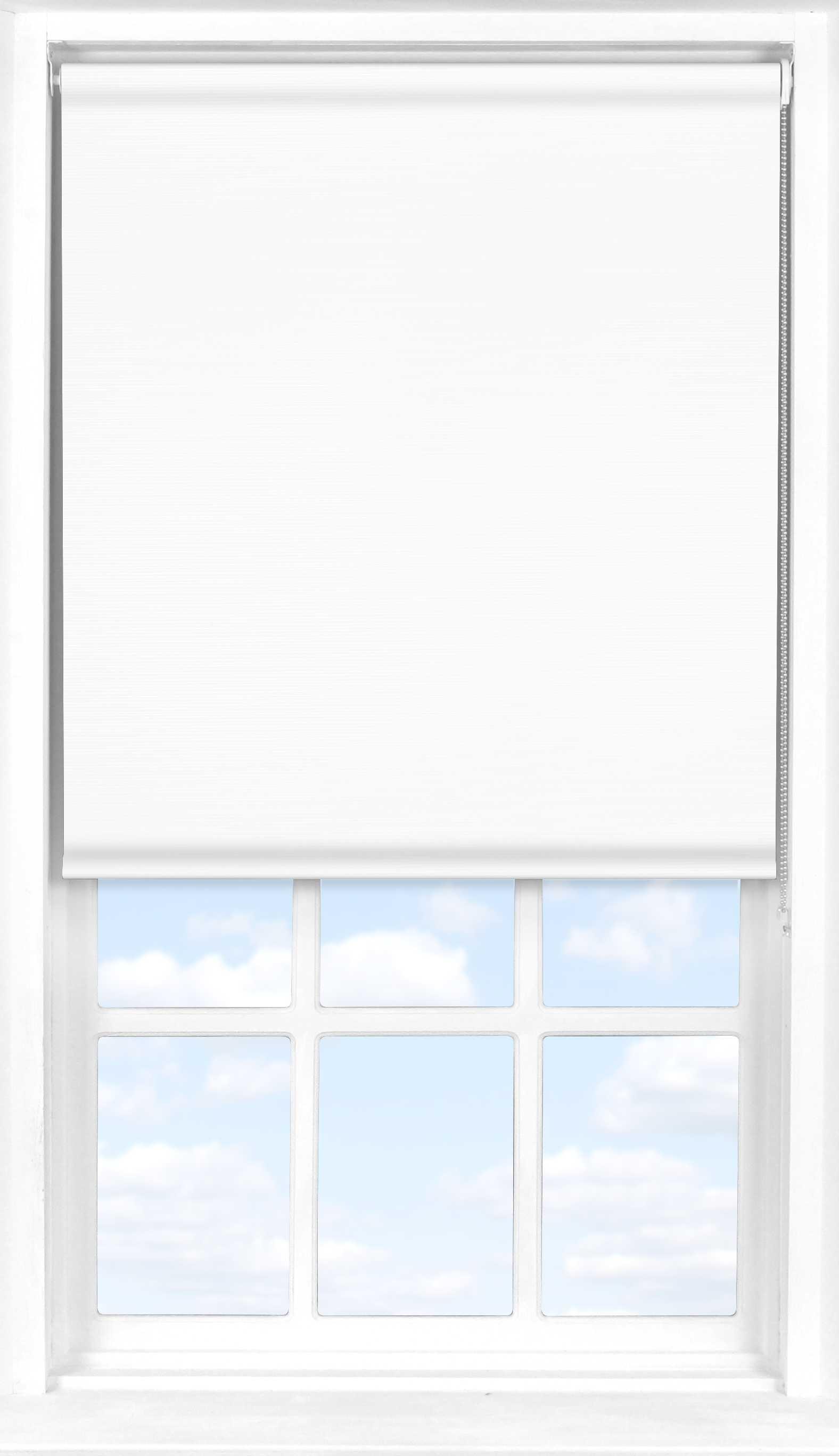Roller Blind in Soft White Transparent