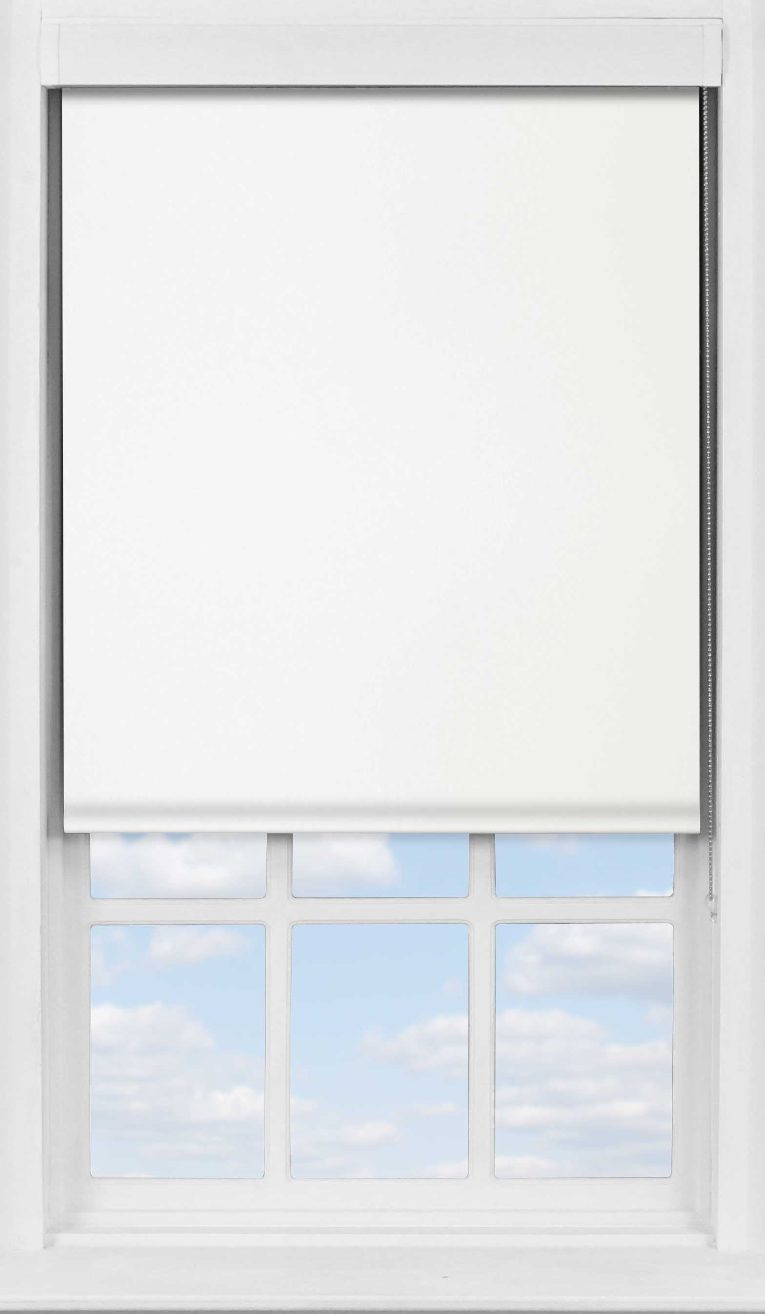Premium Roller Blind in Panama White Transparent