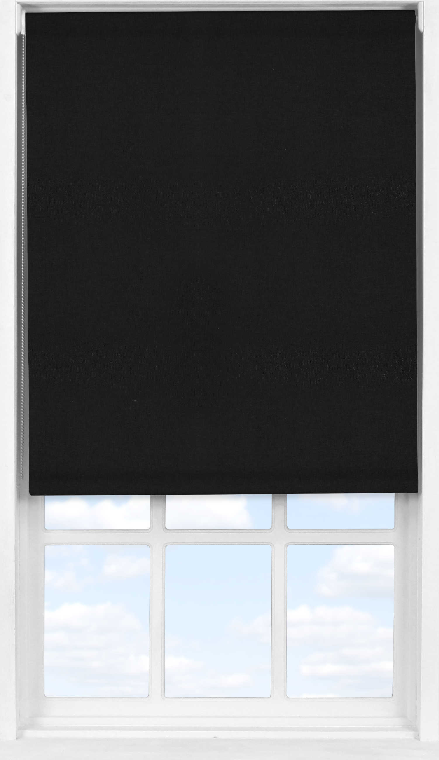 Easifit Roller Blind in Jet Black Translucent