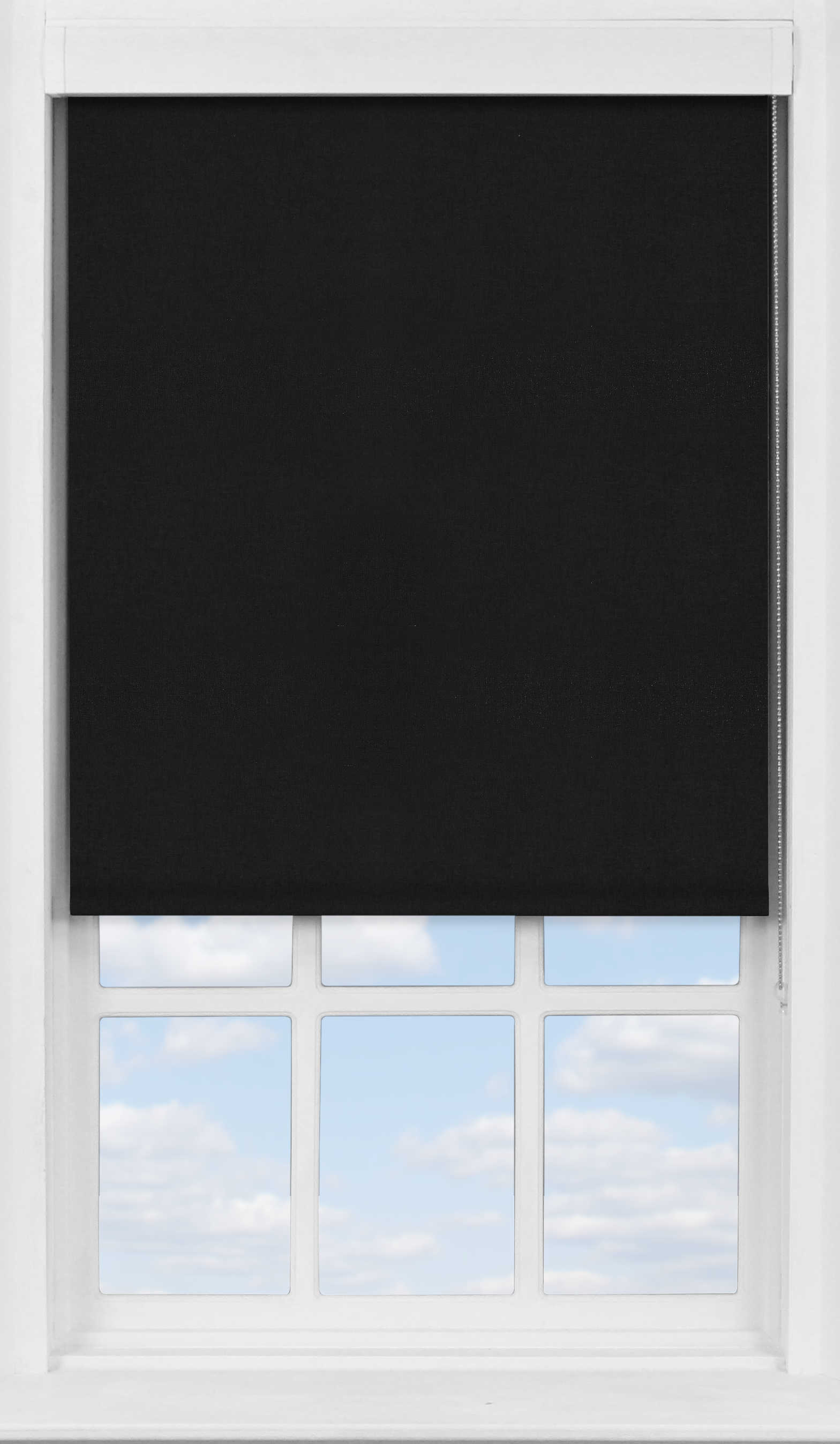 Premium Roller Blind in Jet Black Translucent