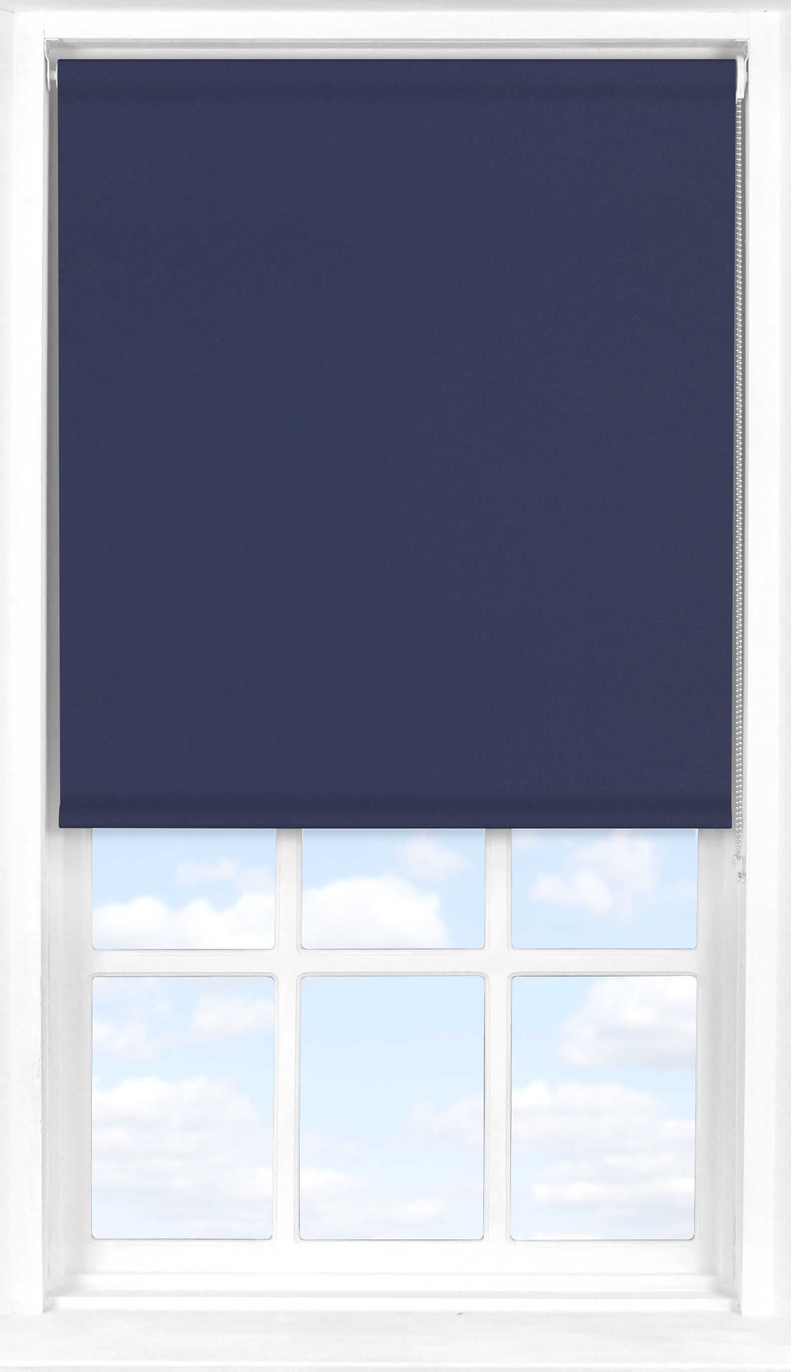 Roller Blind in Midnight Blue Translucent