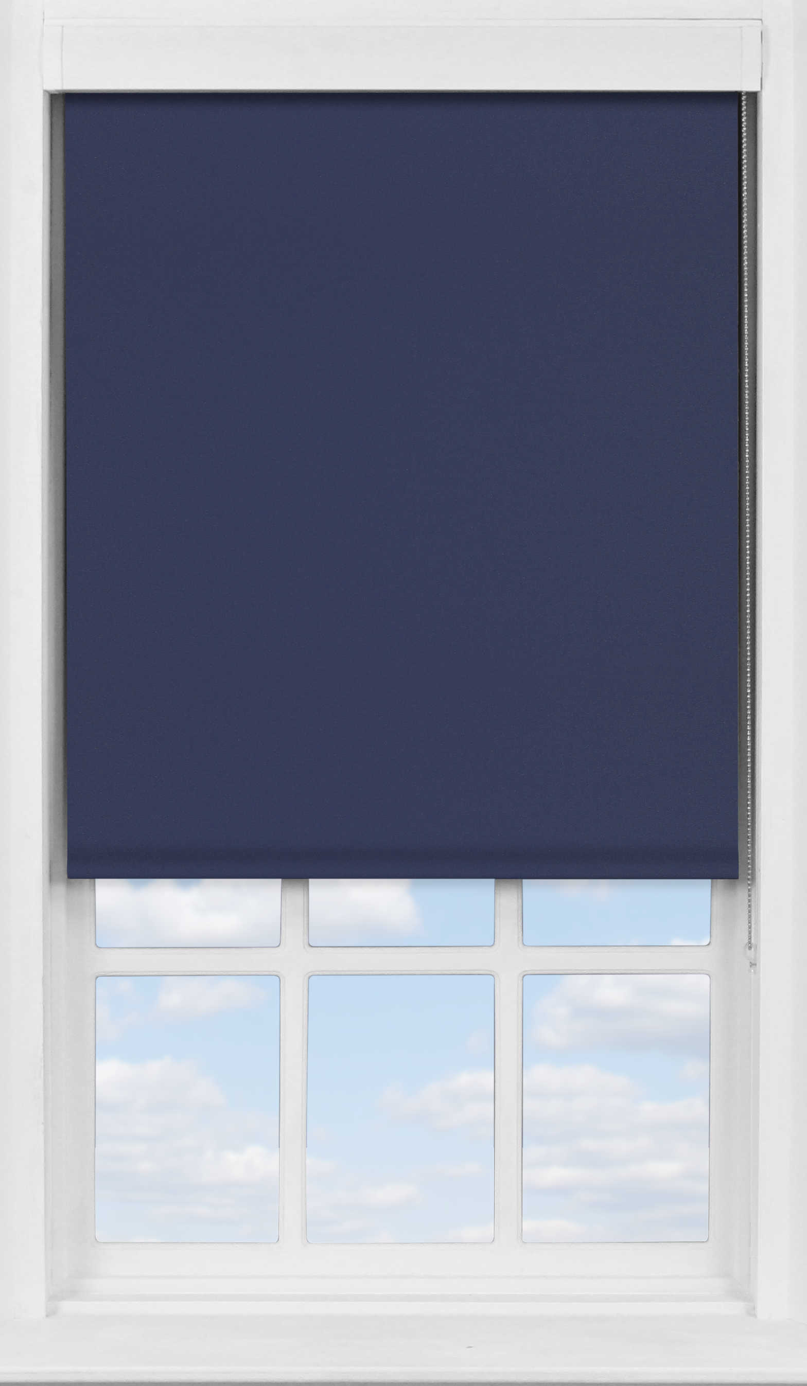 Premium Roller Blind in Midnight Blue Translucent