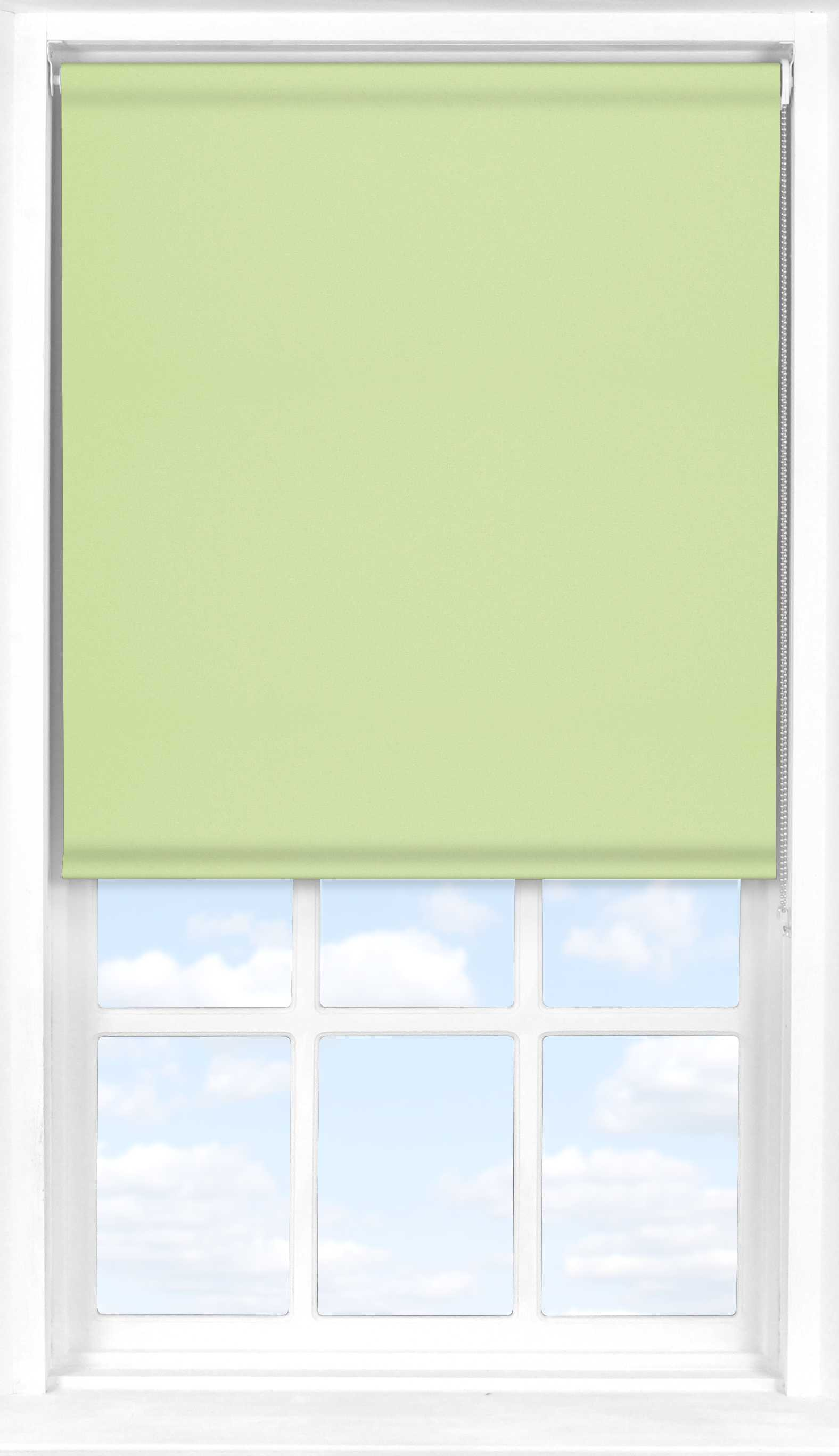 Roller Blind in Light Green Translucent