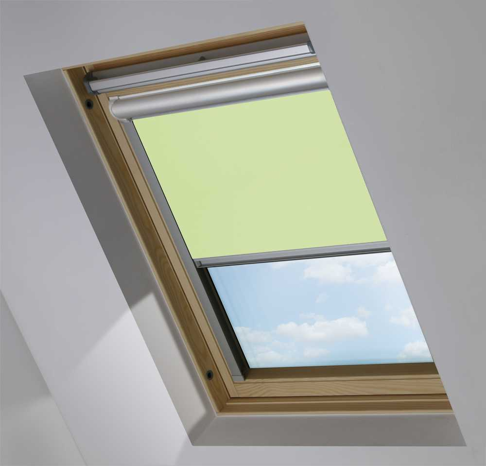 Solar Skylight Blinds to Suit FAKRO® Windows in Light Green Translucent