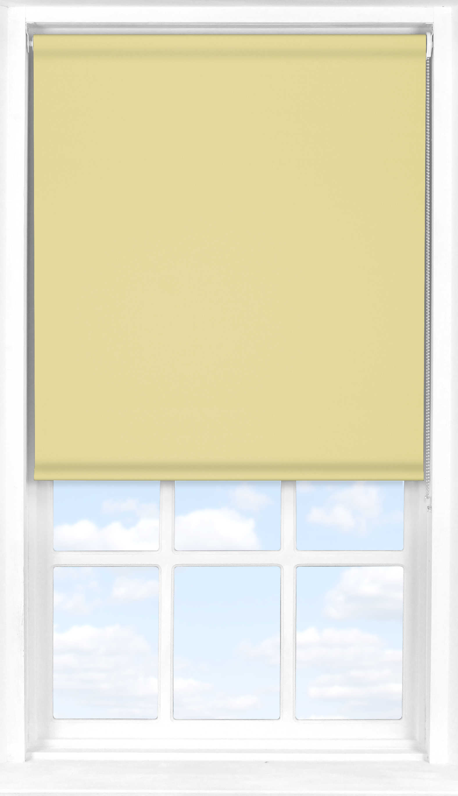 Motorised Roller Blind in Daffodil Yellow Translucent