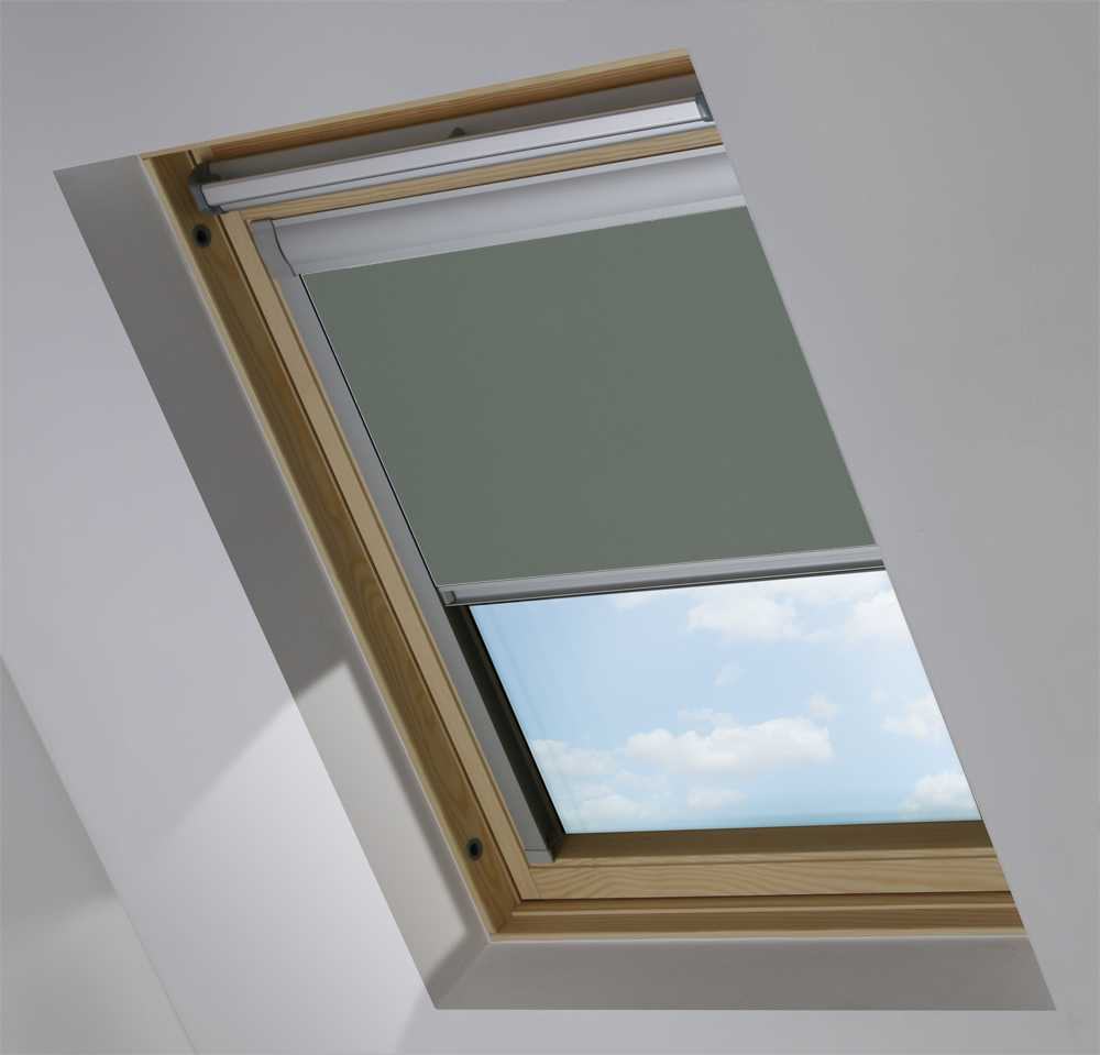 Made-To-Measure Premium Skylight Blind in Smouldering Charcoal Translucent
