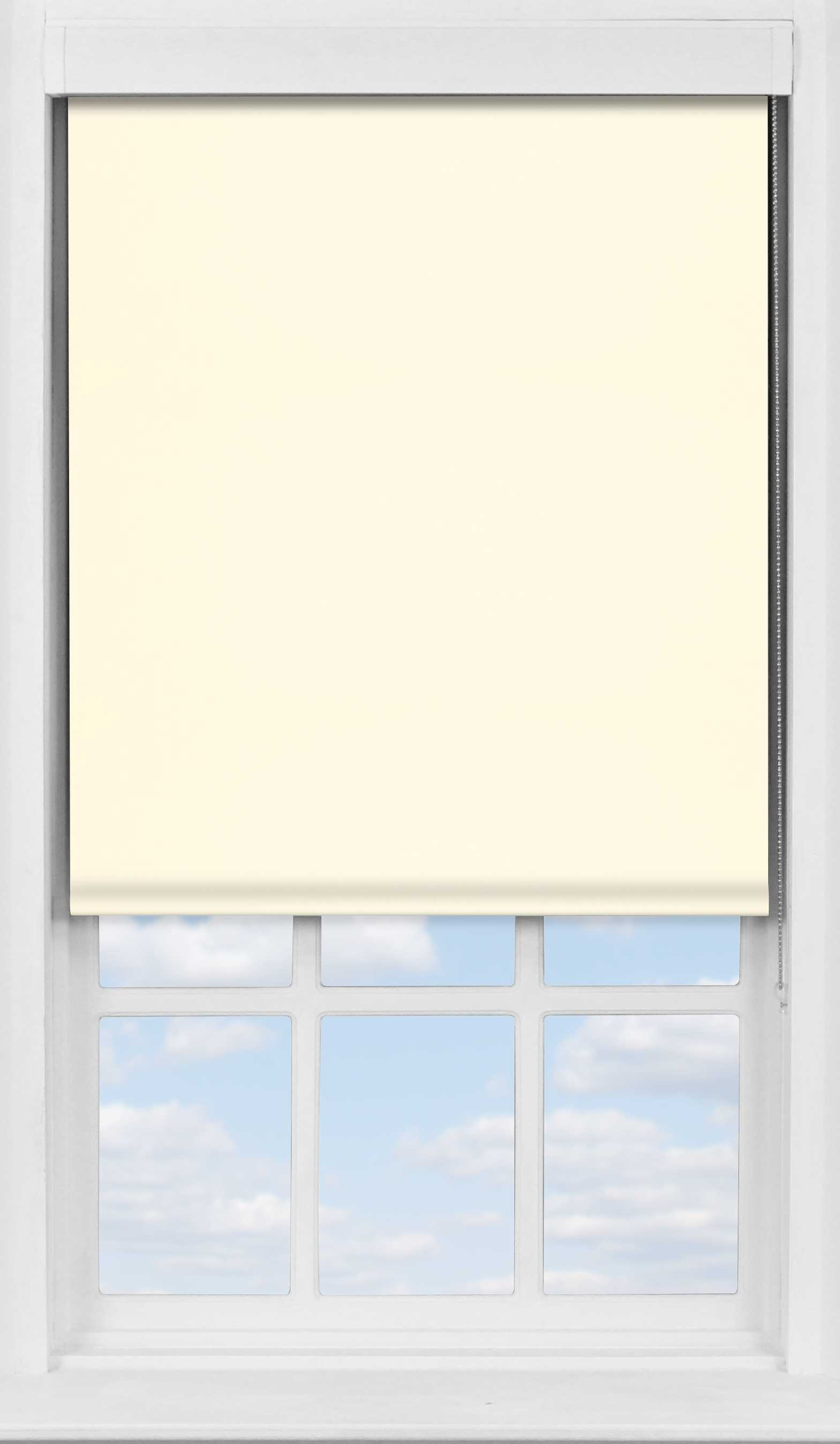 Premium Roller Blind in Delicate Cream Translucent