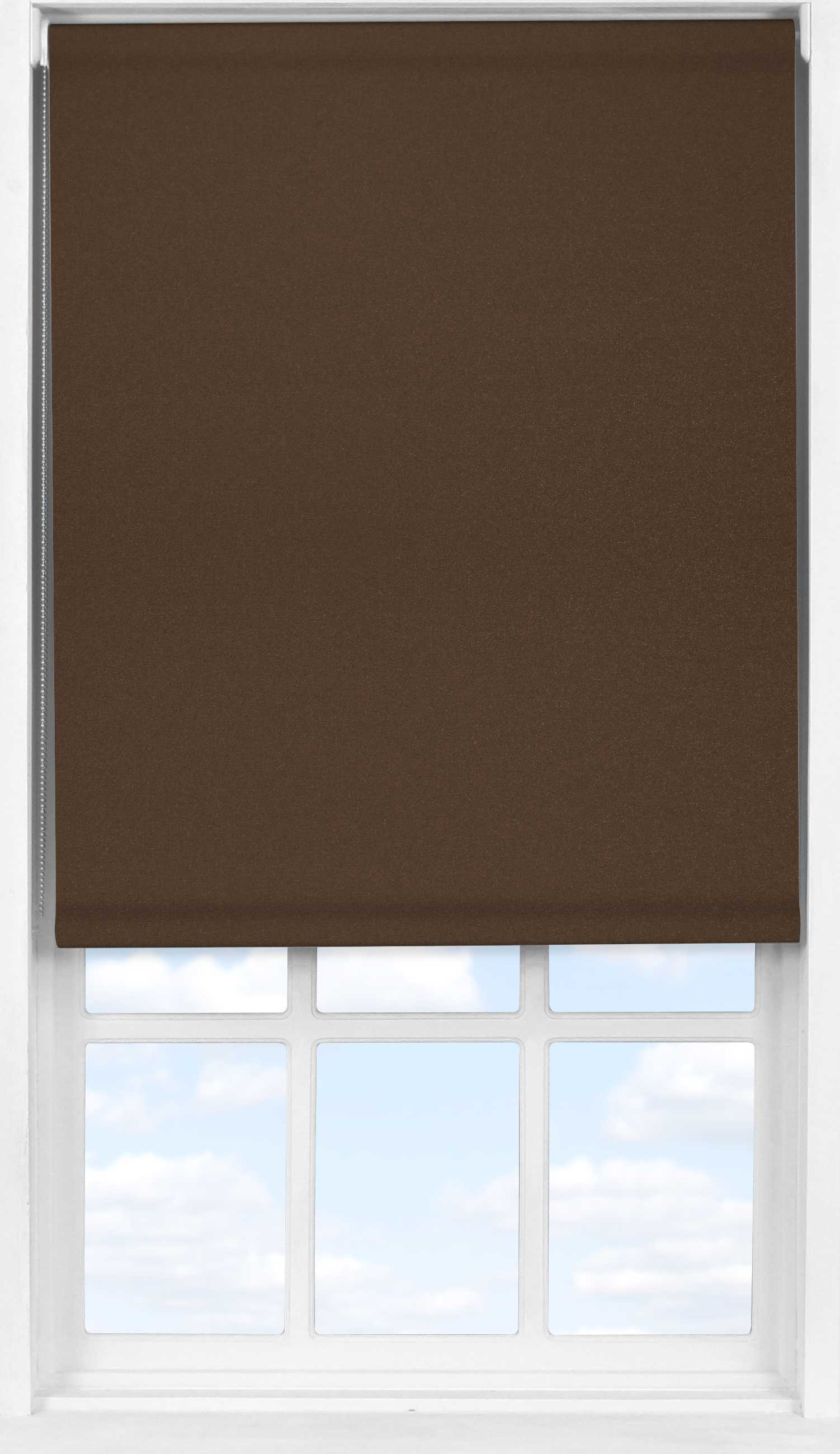Easifit Roller Blind in Rich Chestnut Translucent