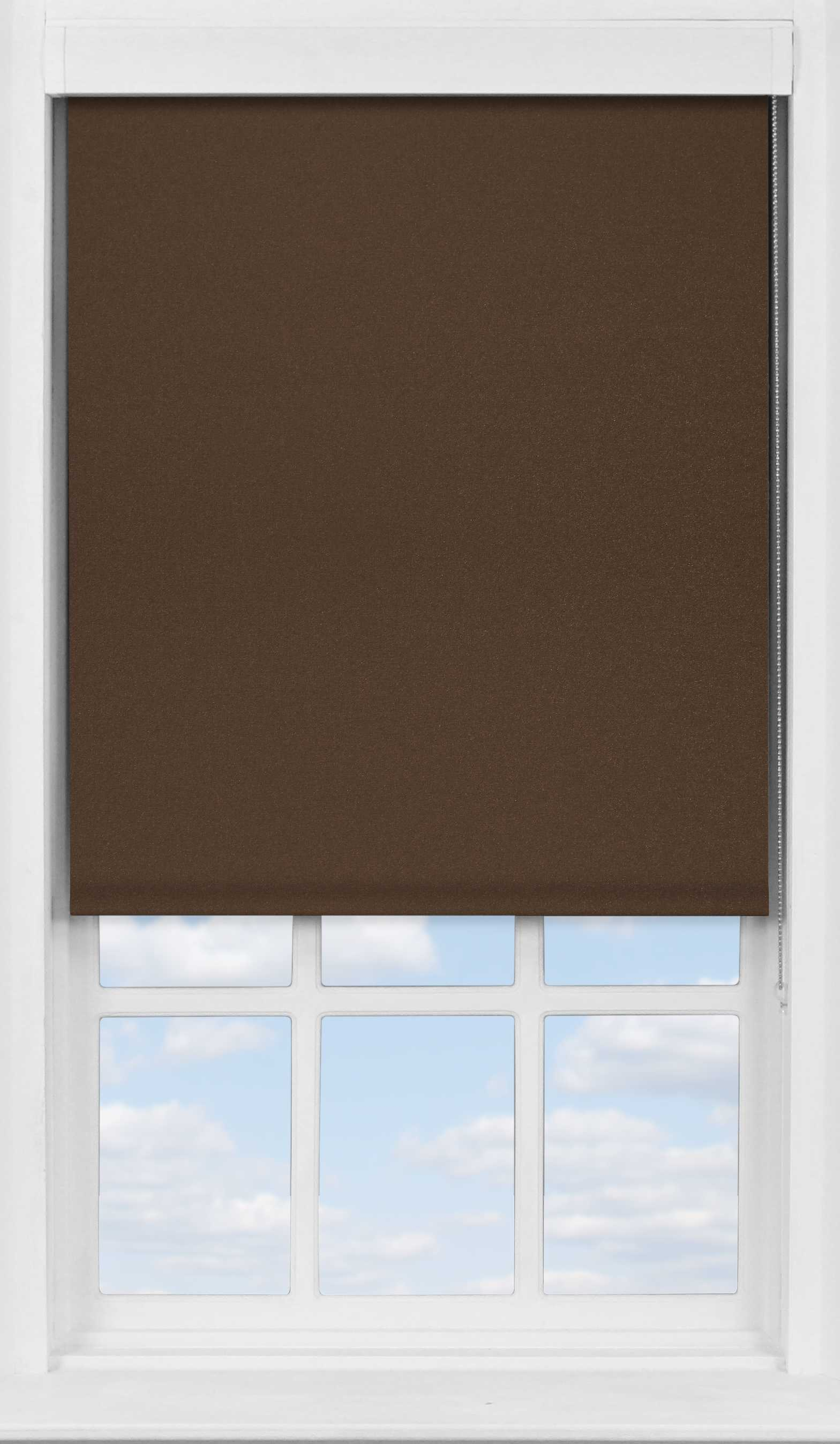 Premium Roller Blind in Rich Chestnut Translucent