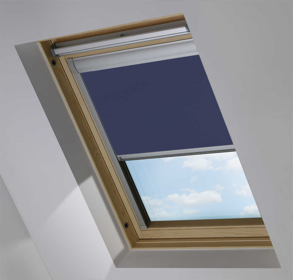 Made-To-Measure Premium Skylight Blind in Midnight Blue Blackout