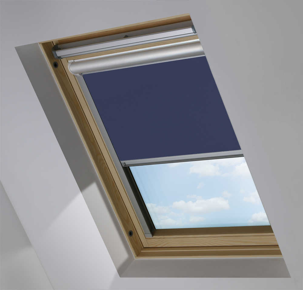 Solar Skylight Blinds to Suit FAKRO® Windows in Midnight Blue Blackout