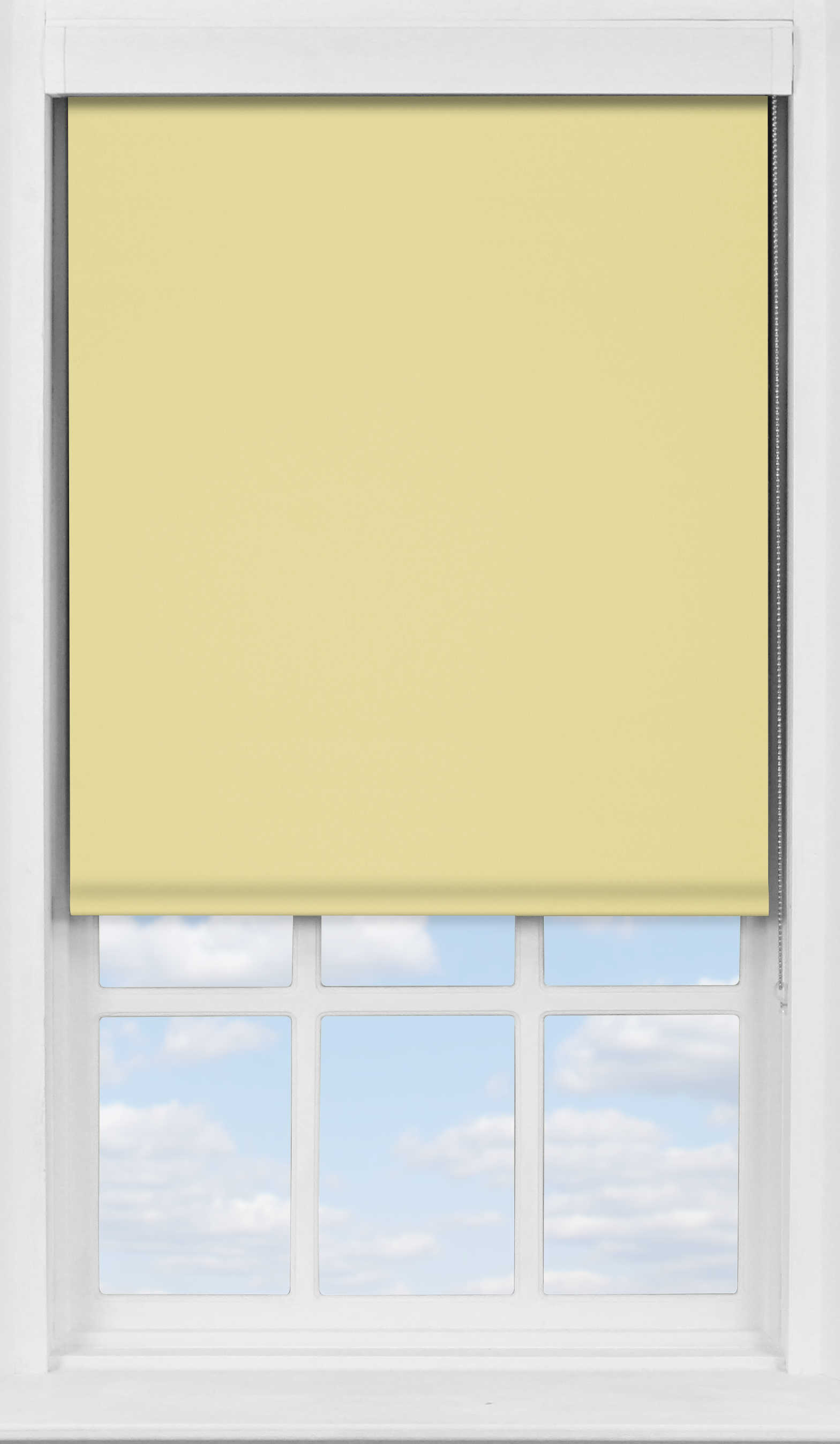 Premium Roller Blind in Daffodil Yellow Blackout