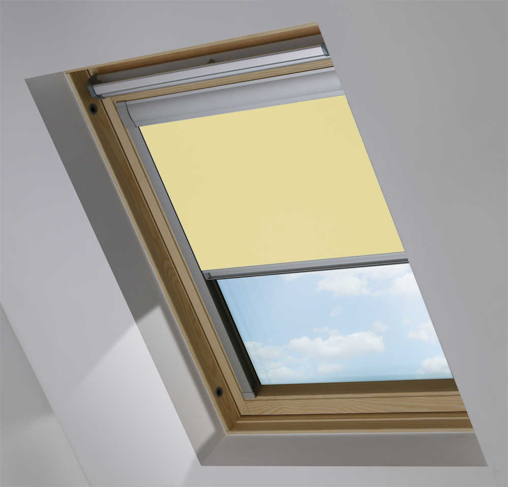 Made-To-Measure Premium Skylight Blind in Daffodil Yellow Blackout