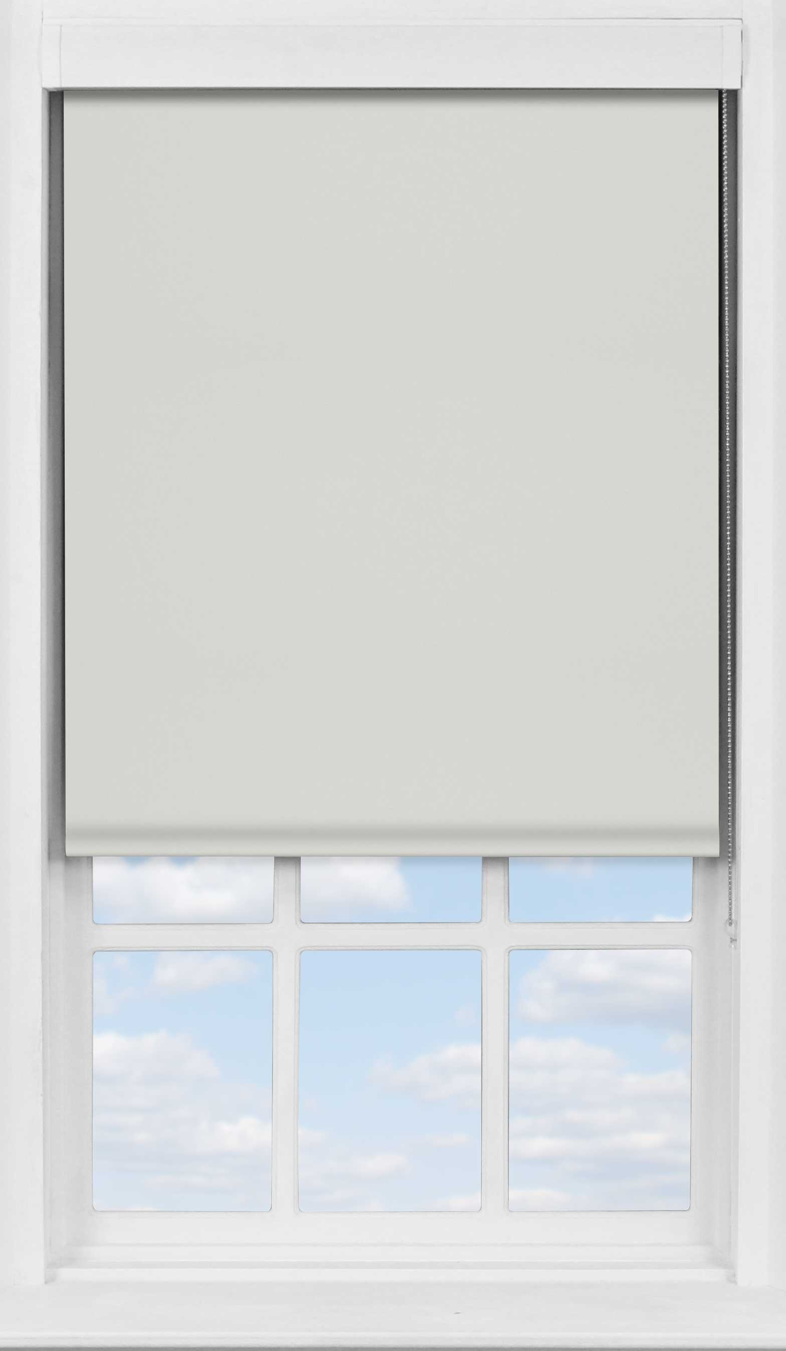 Premium Roller Blind in Light Grey Blackout