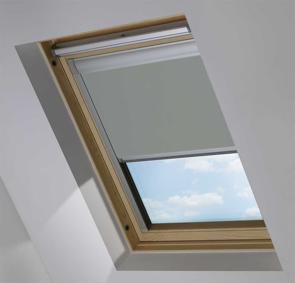 Skylight Blinds to Suit OKPOL® Windows in Smouldering Charcoal Blackout