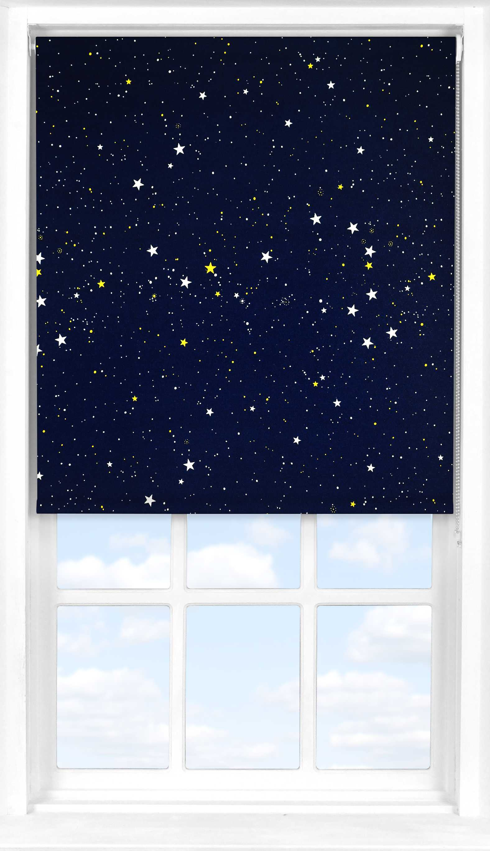 Roller Blind in Night Sky Blackout