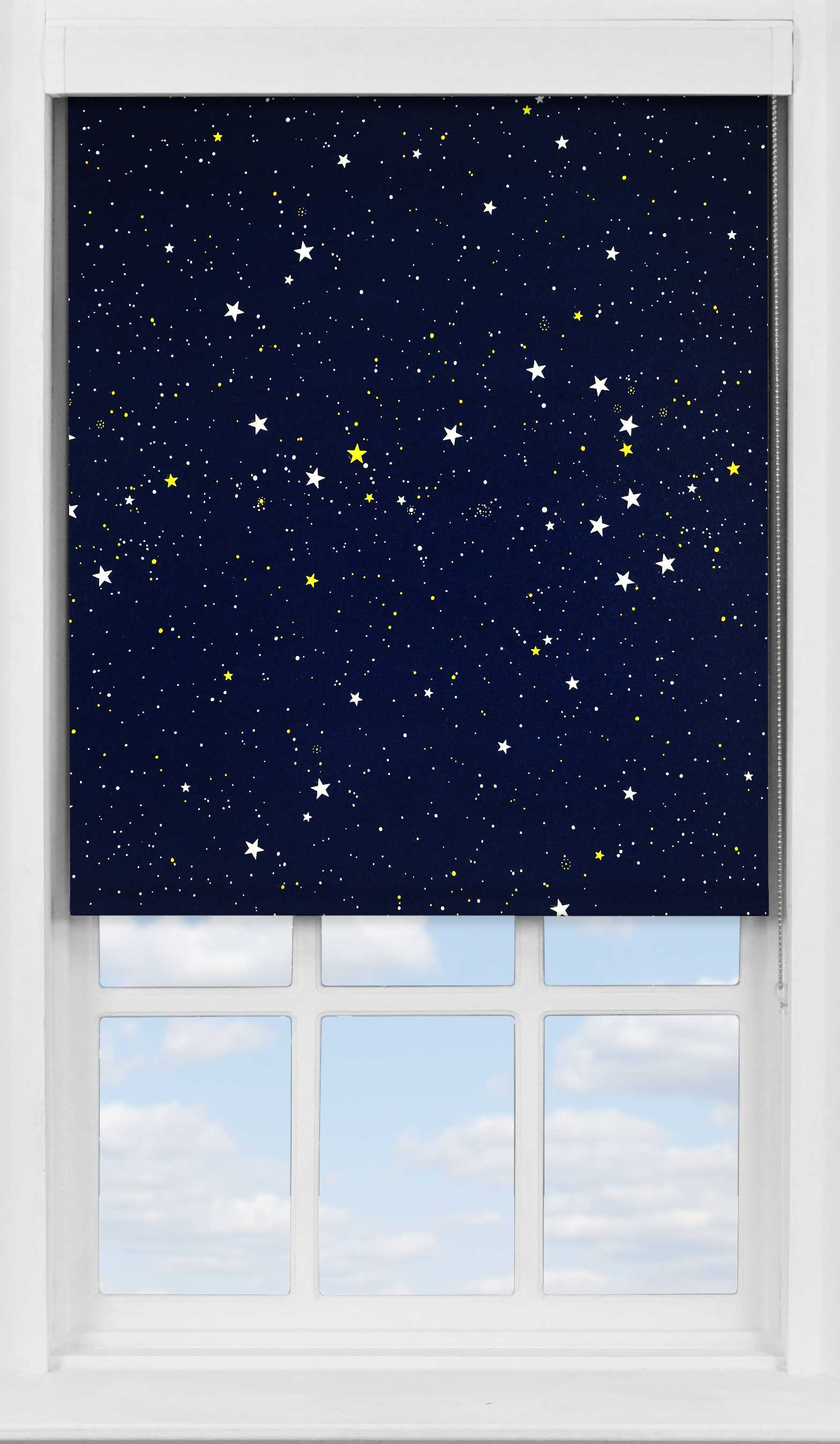 Premium Roller Blind in Night Sky Blackout