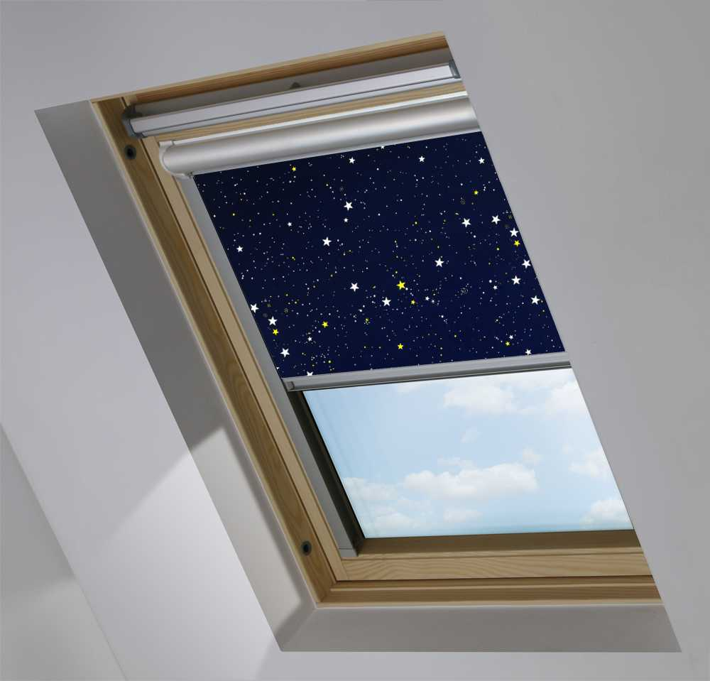 Solar Skylight Blinds to Suit FAKRO® Windows in Night Sky Blackout