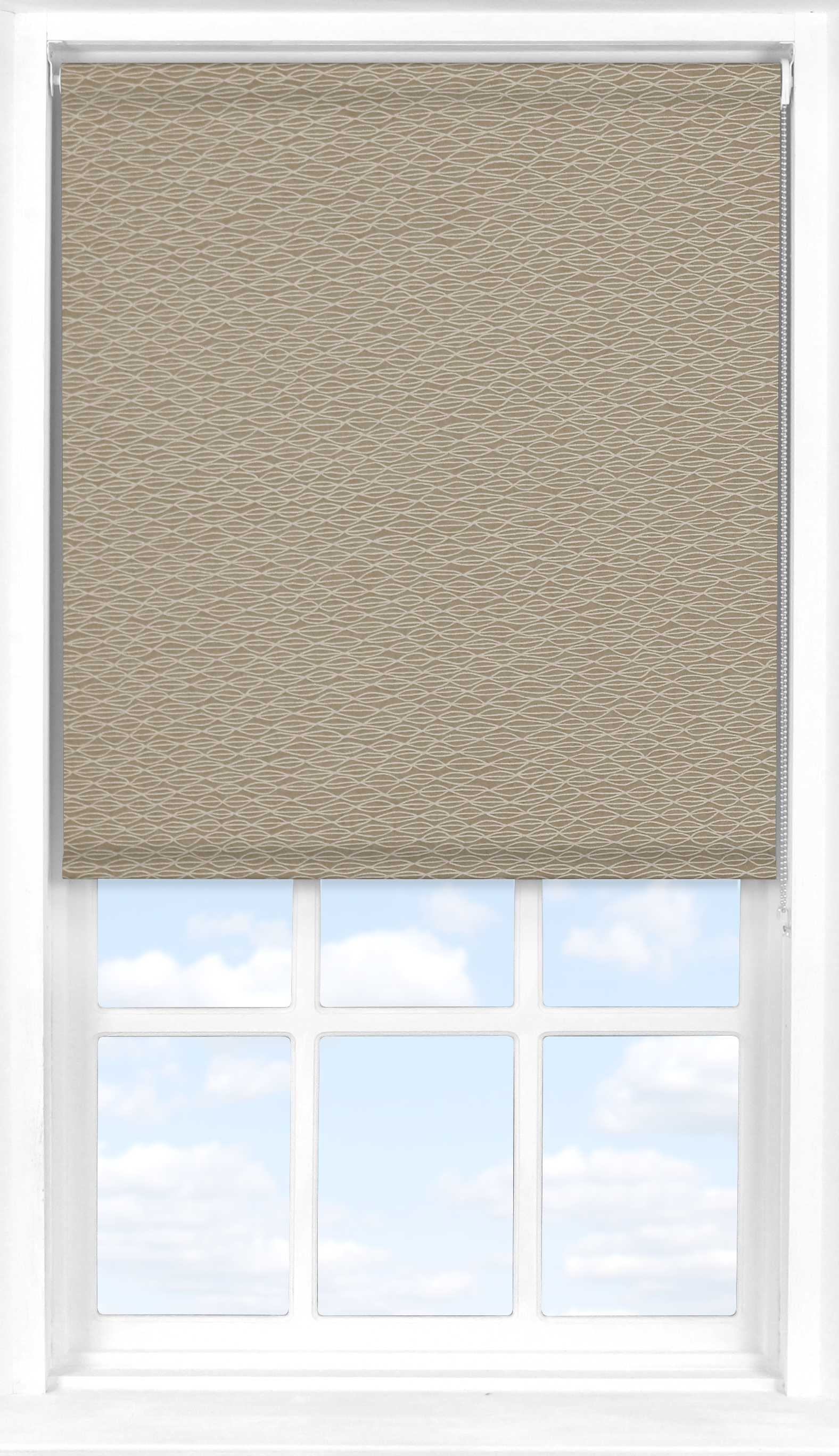 Motorised Roller Blind in Natural Shell Transparent