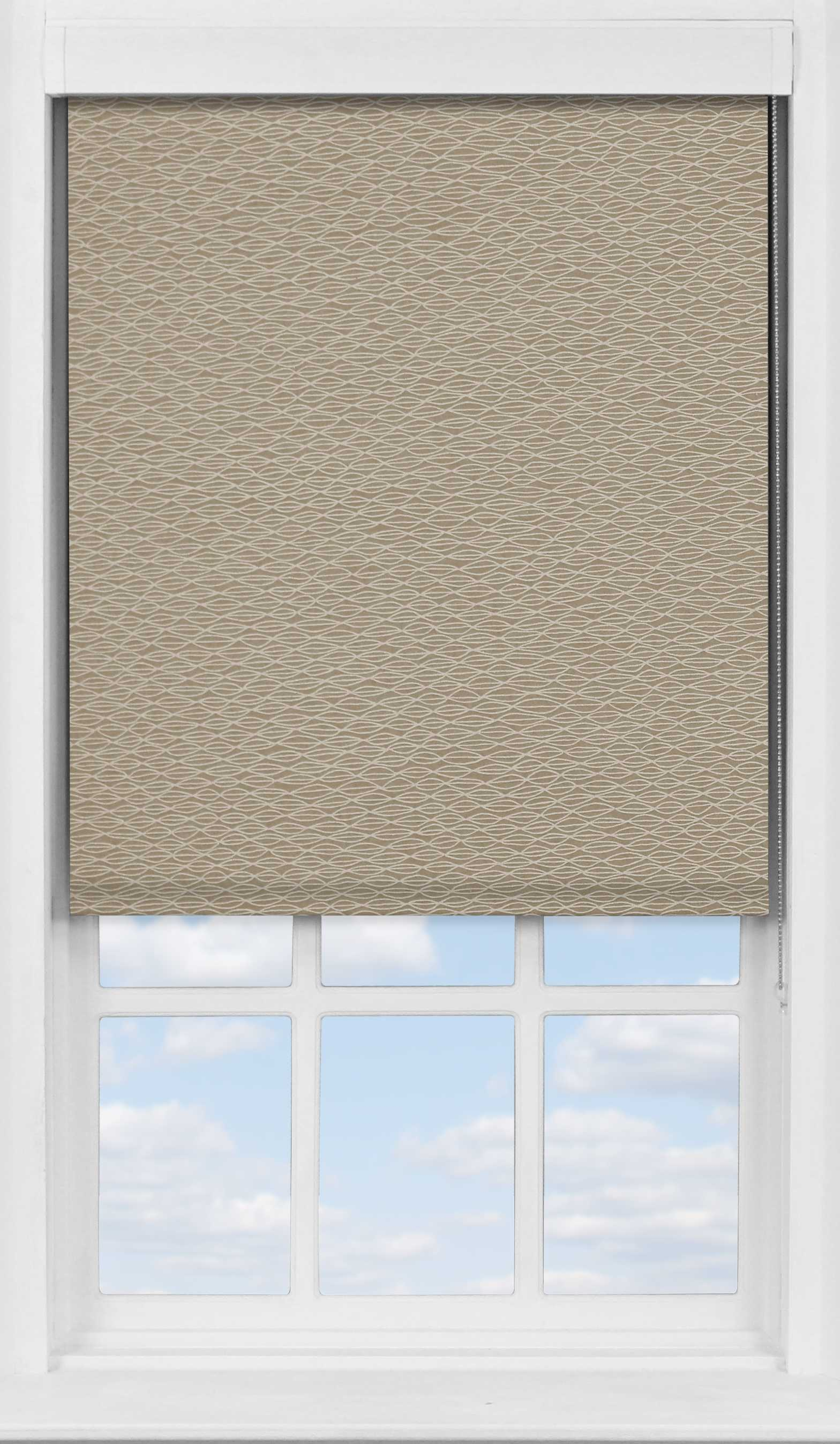 Premium Roller Blind in Natural Shell Transparent