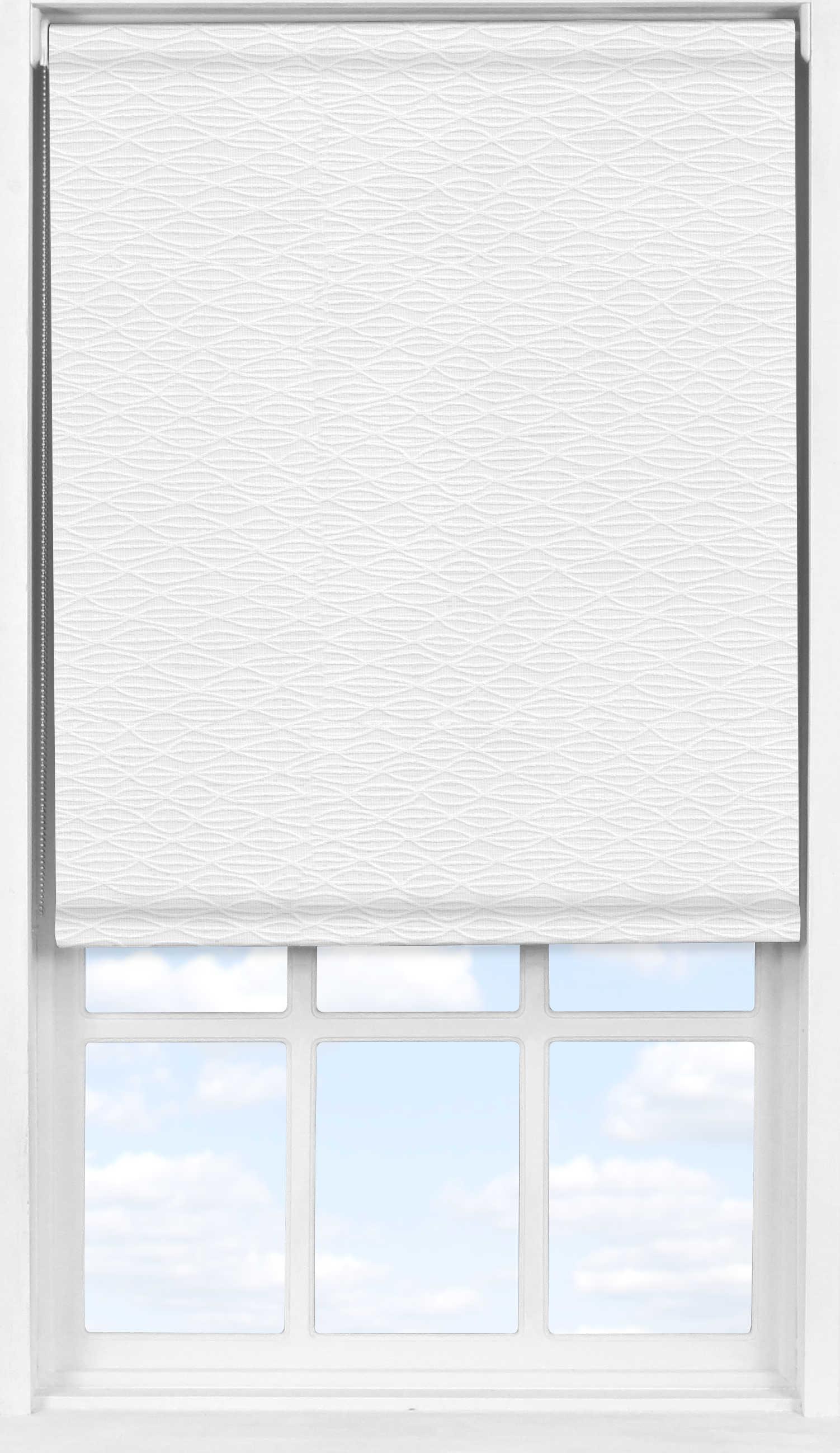 Easifit Roller Blind in Harmony White Transparent