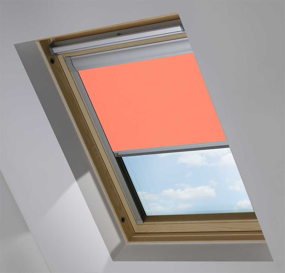 Made-To-Measure Premium Skylight Blind in Coral Translucent