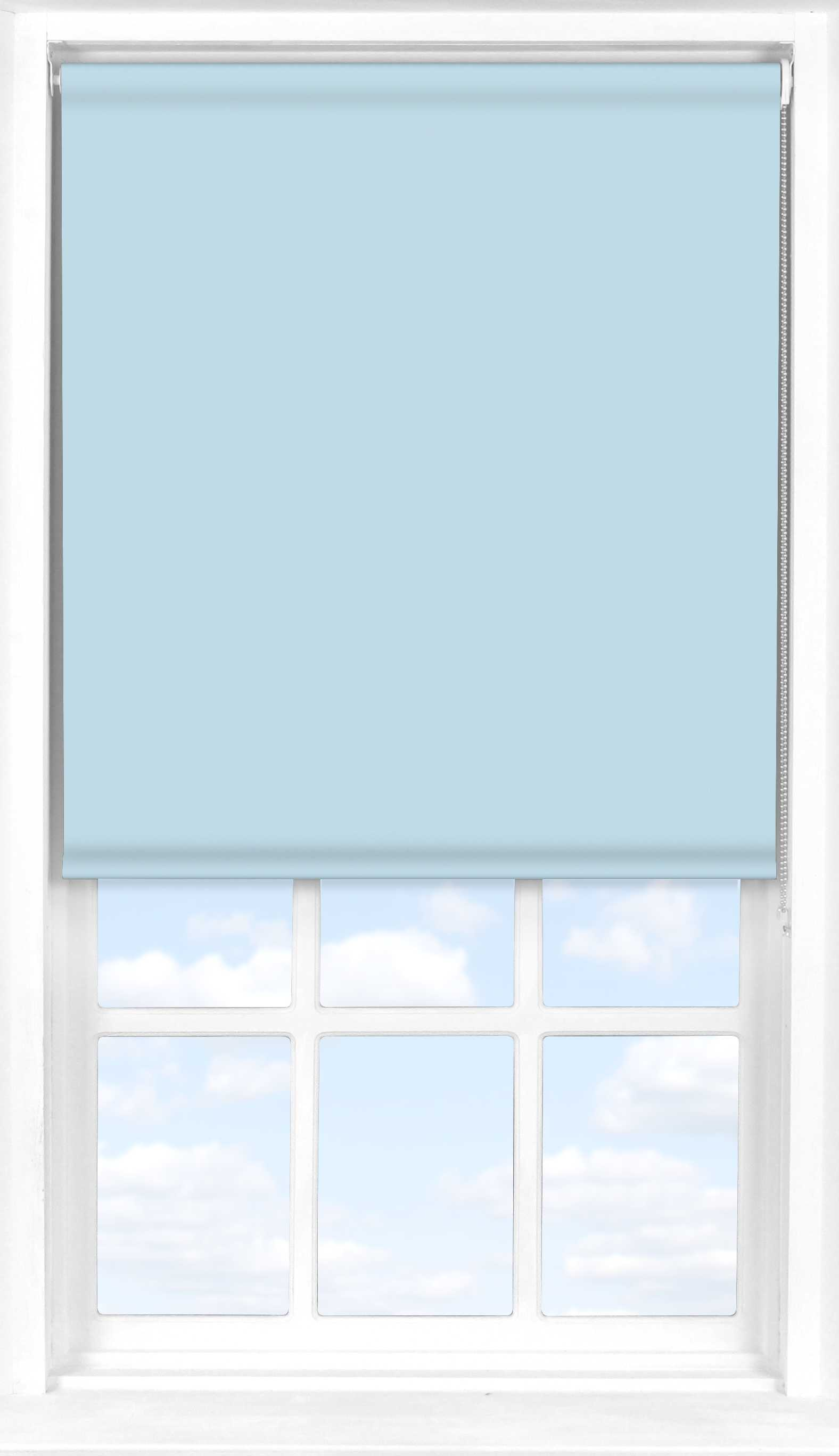Roller Blind in Smokey Blue Translucent