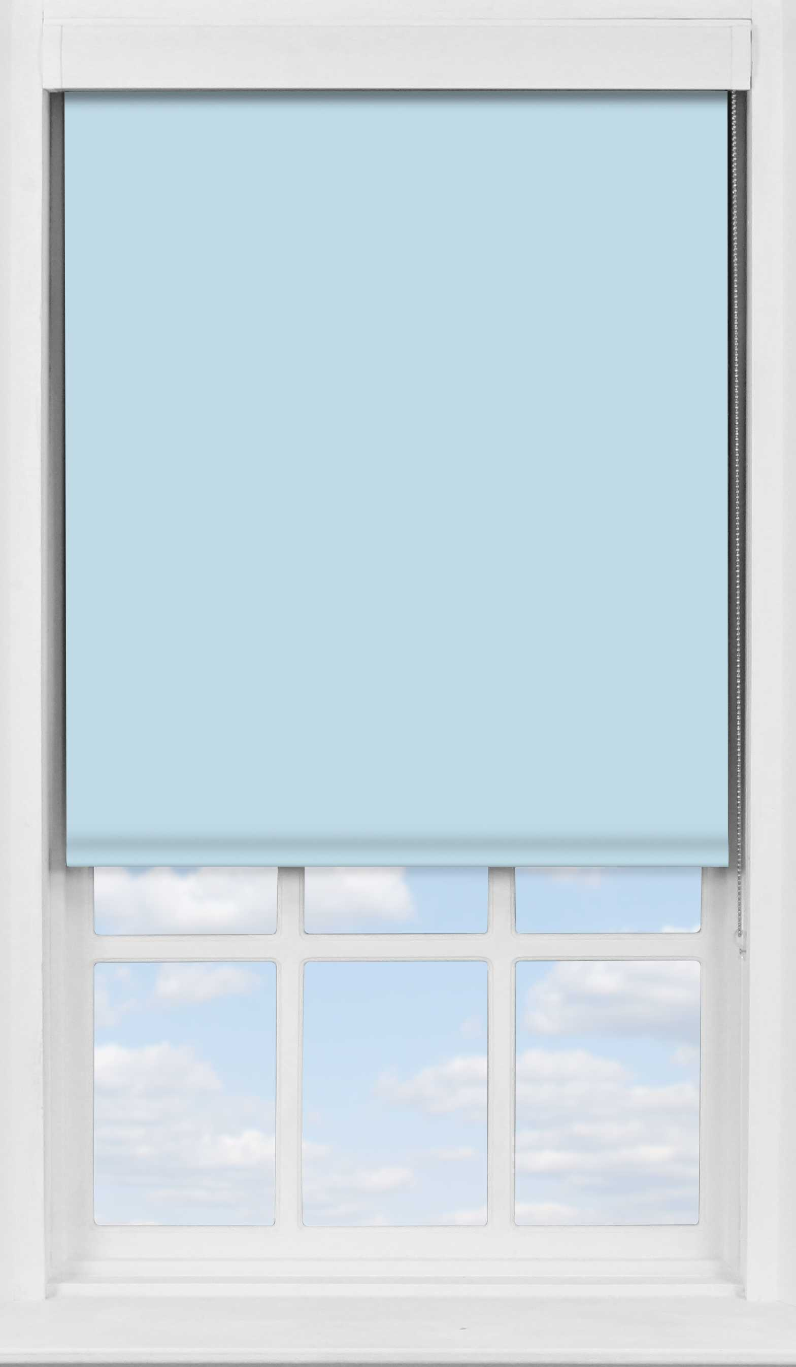 Premium Roller Blind in Smokey Blue Translucent