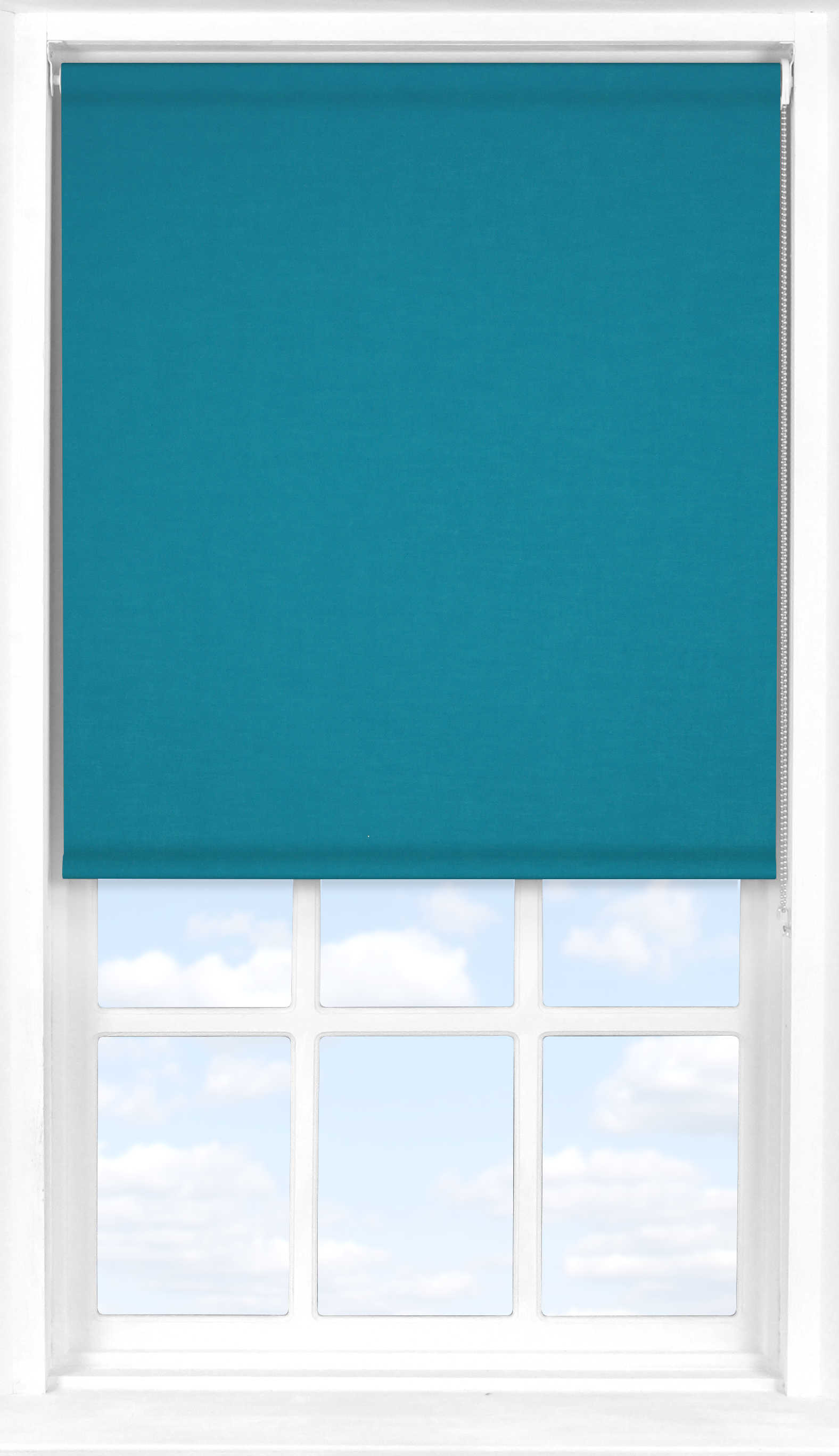 Roller Blind in Marine Blue Translucent