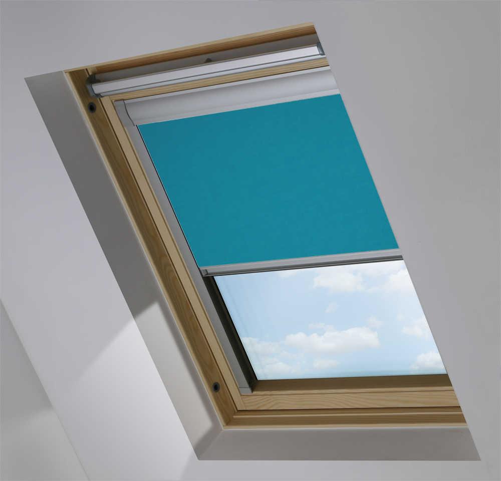 Made-To-Measure Premium Skylight Blind in Marine Blue Translucent