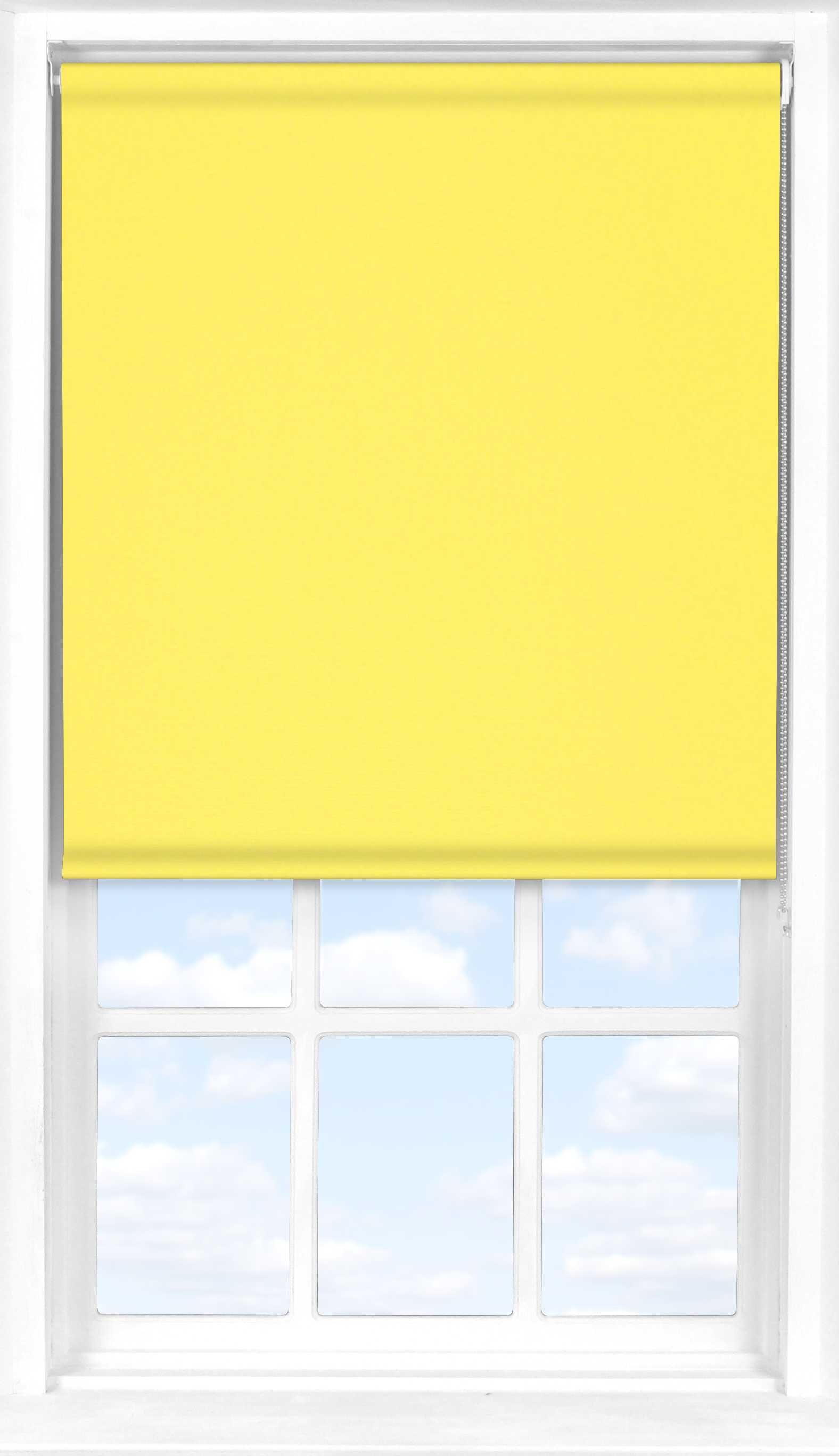 Roller Blind in Canary Yellow Translucent