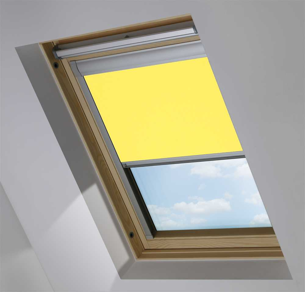Made-To-Measure Premium Skylight Blind in Canary Yellow Translucent