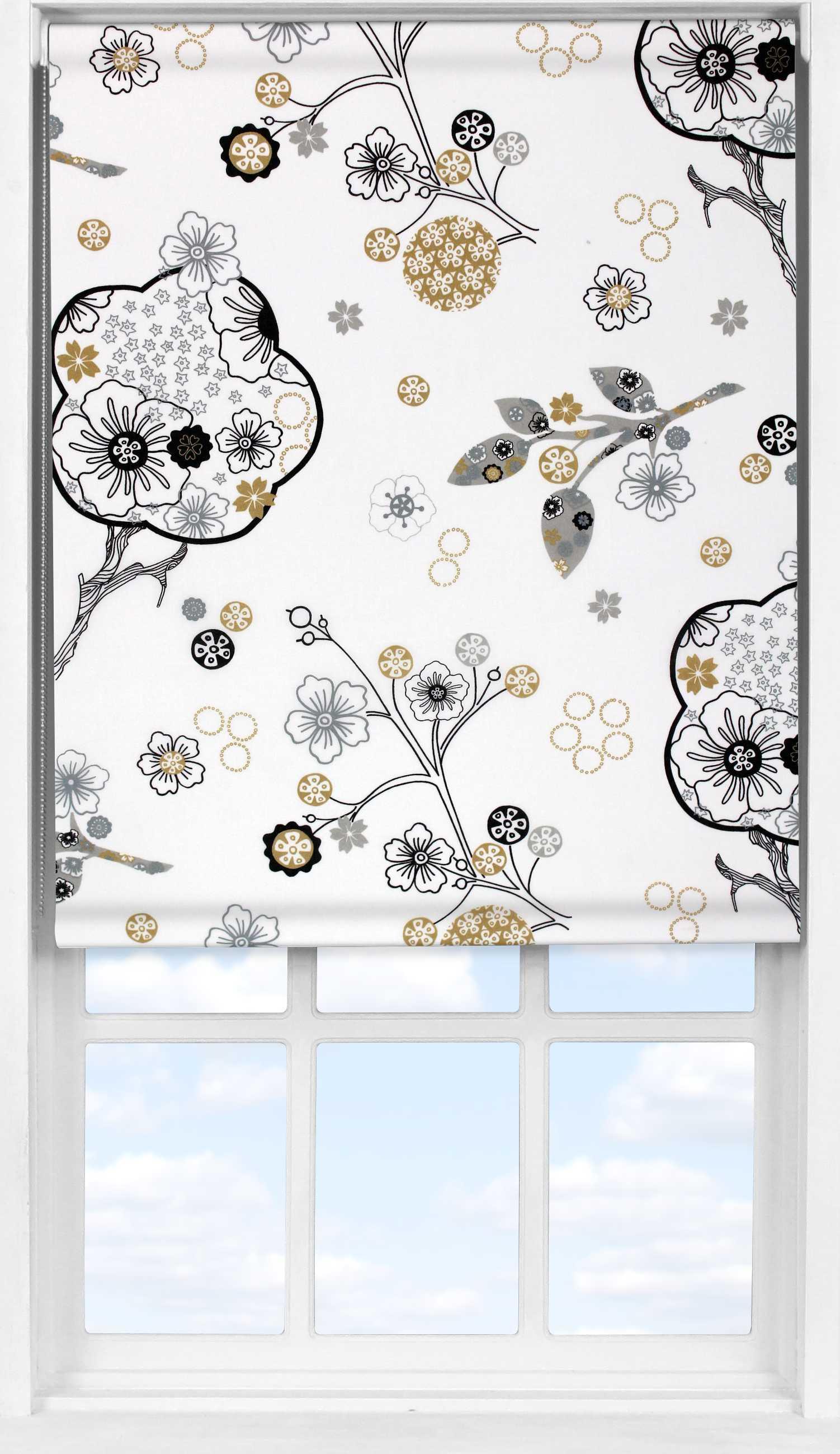 Easifit Roller Blind in Floral Cream Translucent