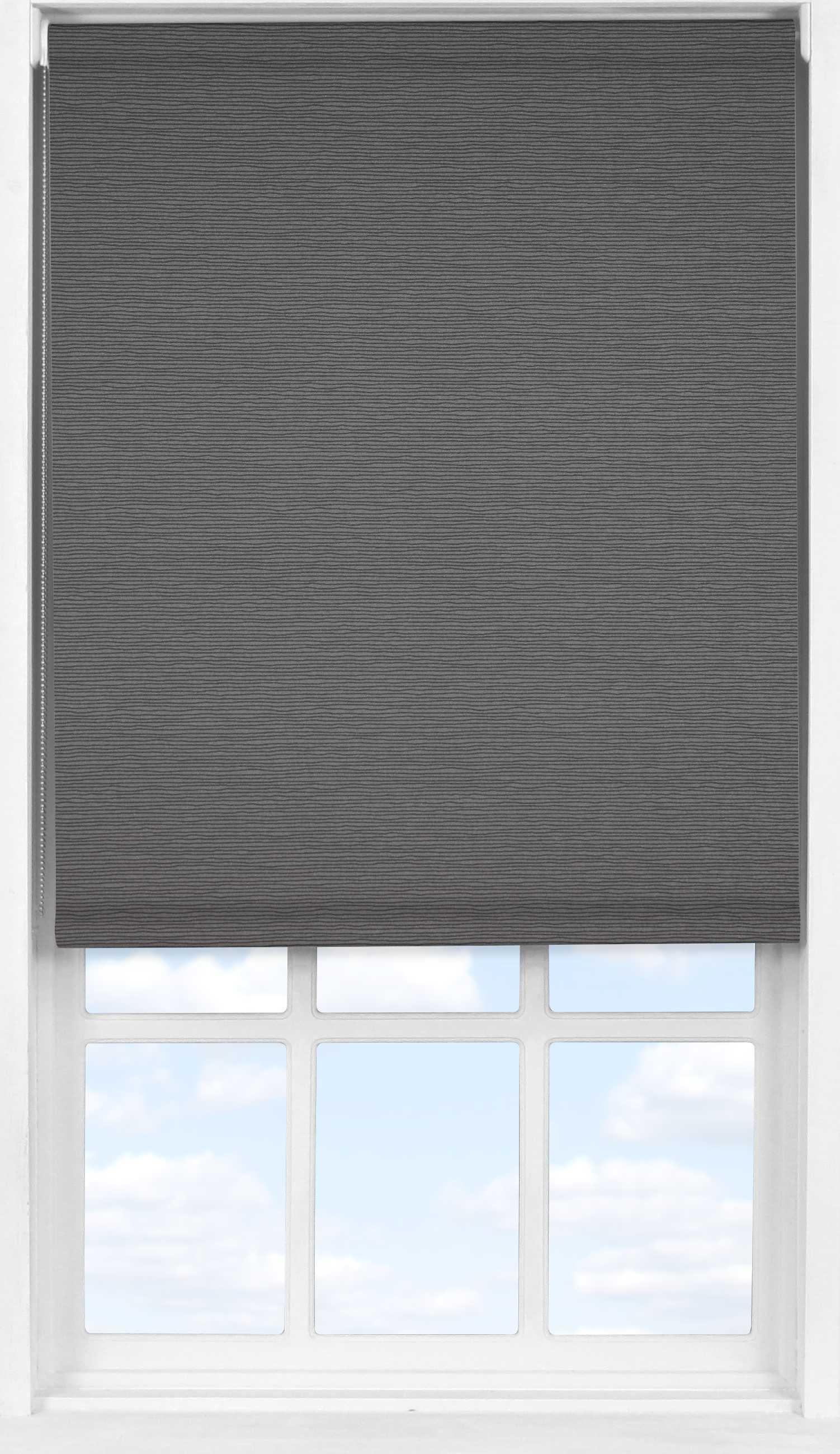 Easifit Roller Blind in Charcoal Stripe Translucent