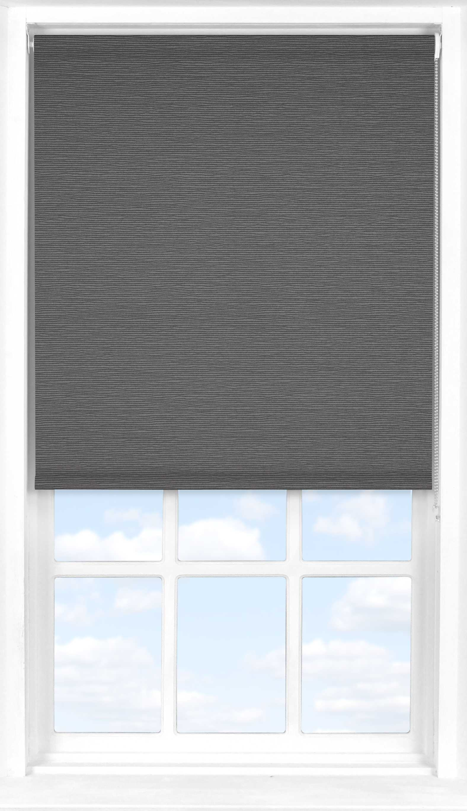 Roller Blind in Charcoal Stripe Translucent