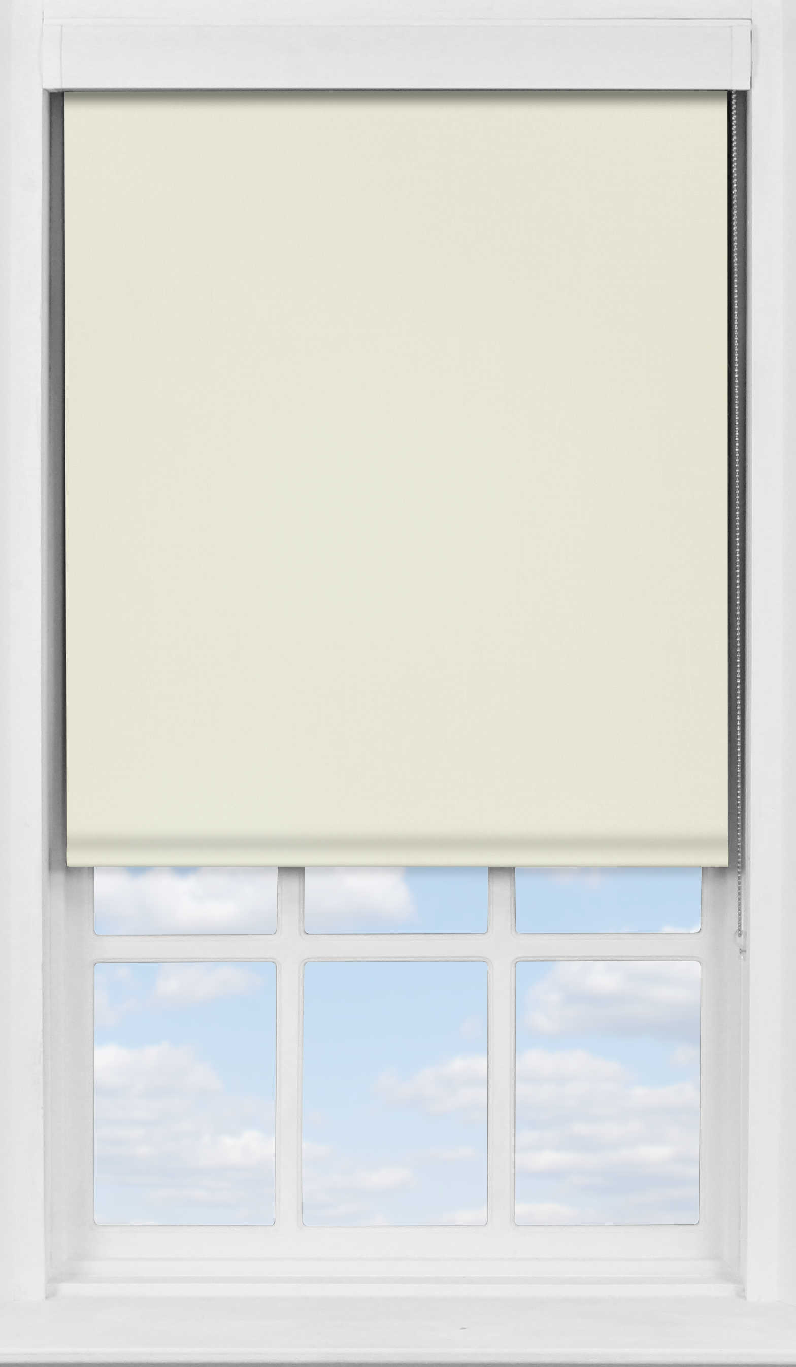 Premium Roller Blind in Almond Cream Blackout