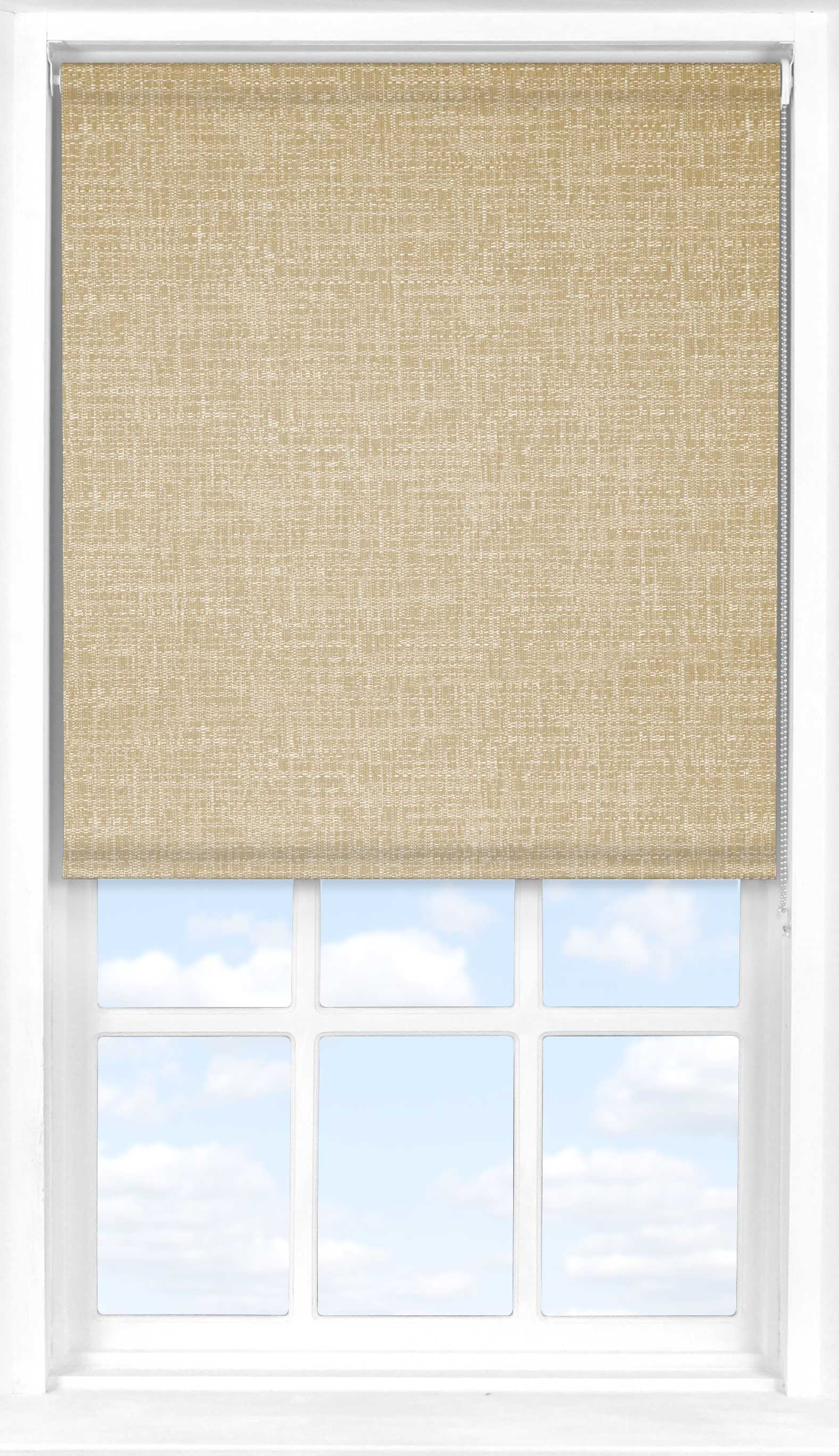 Motorised Roller Blind in Rich Seagrass Translucent
