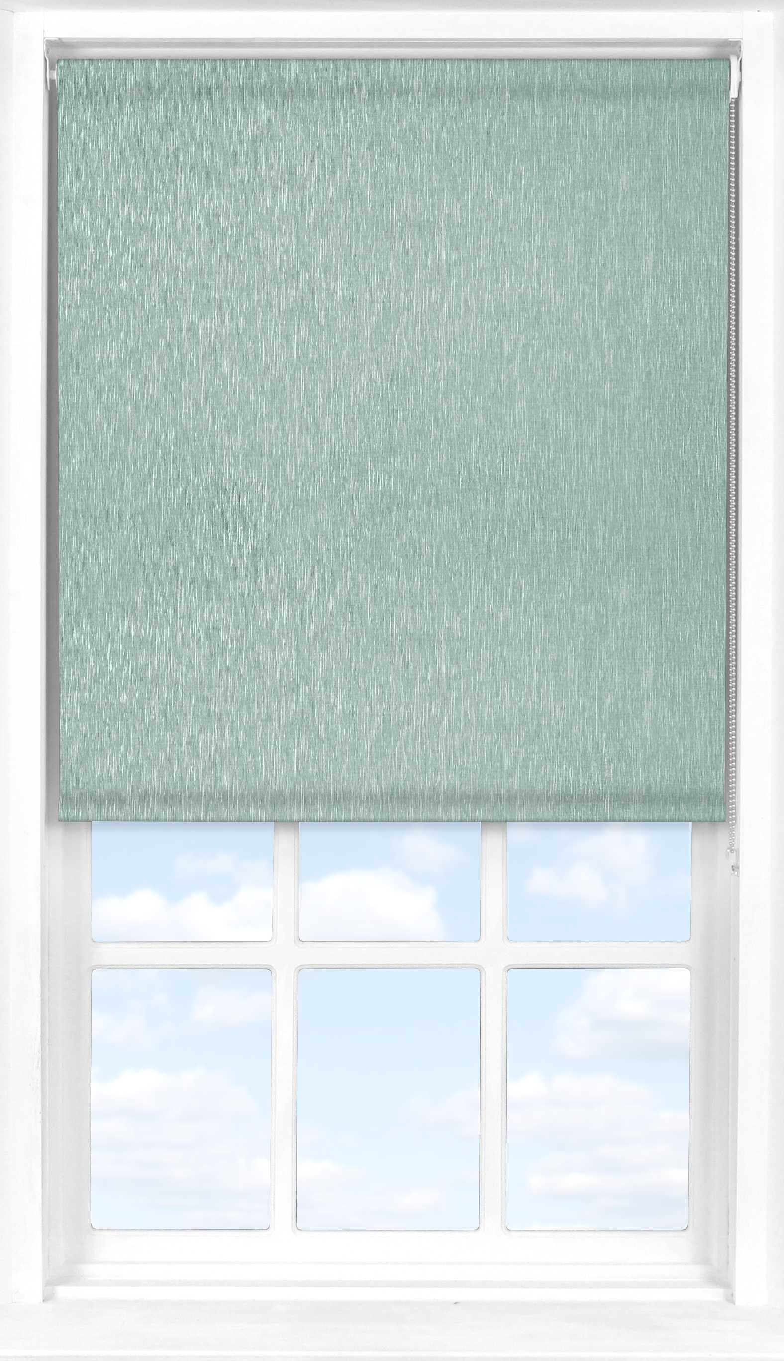 Roller Blind in Brushed Platinum Blackout