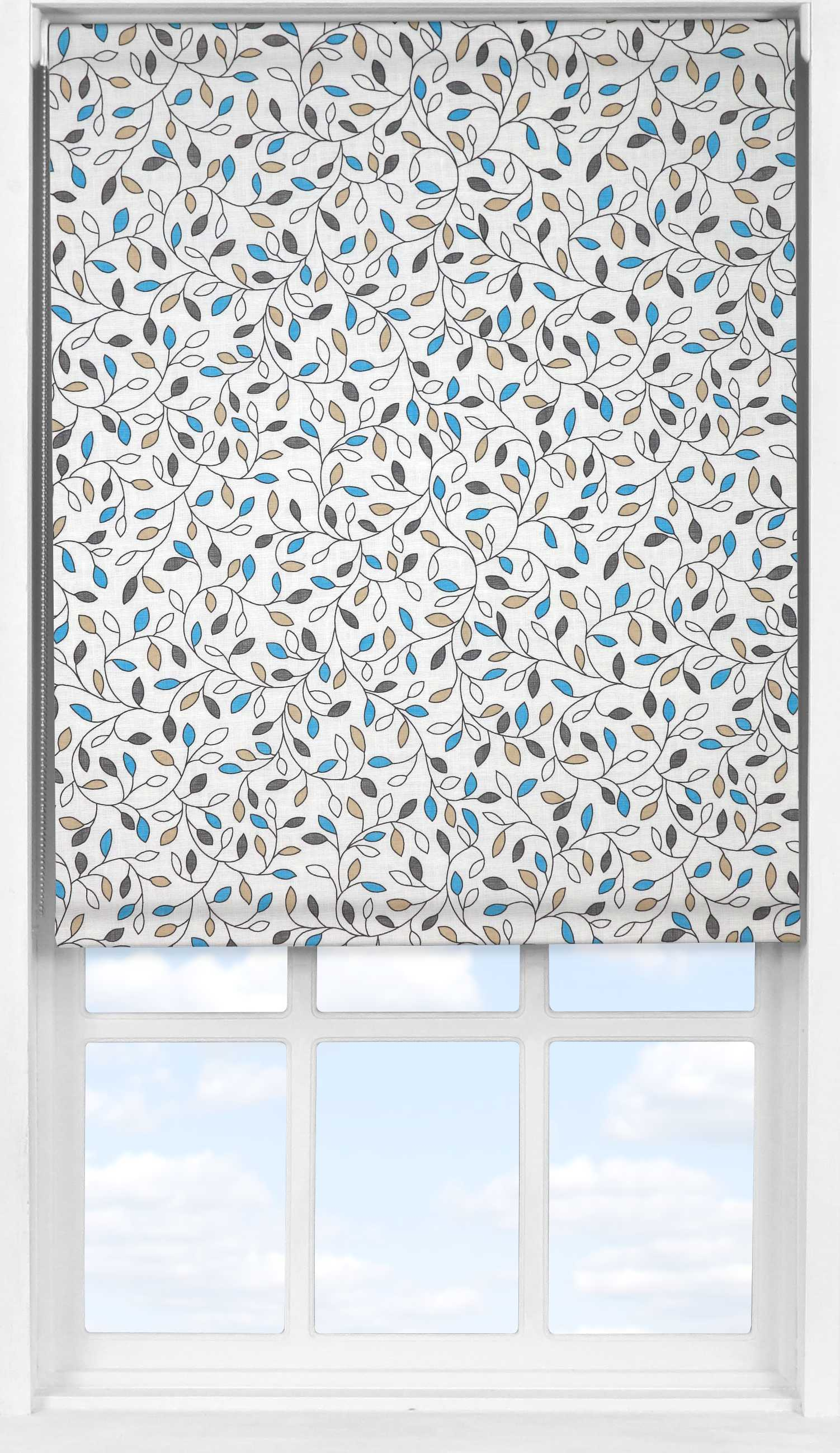 Easifit Roller Blind in Amy China Blue Translucent