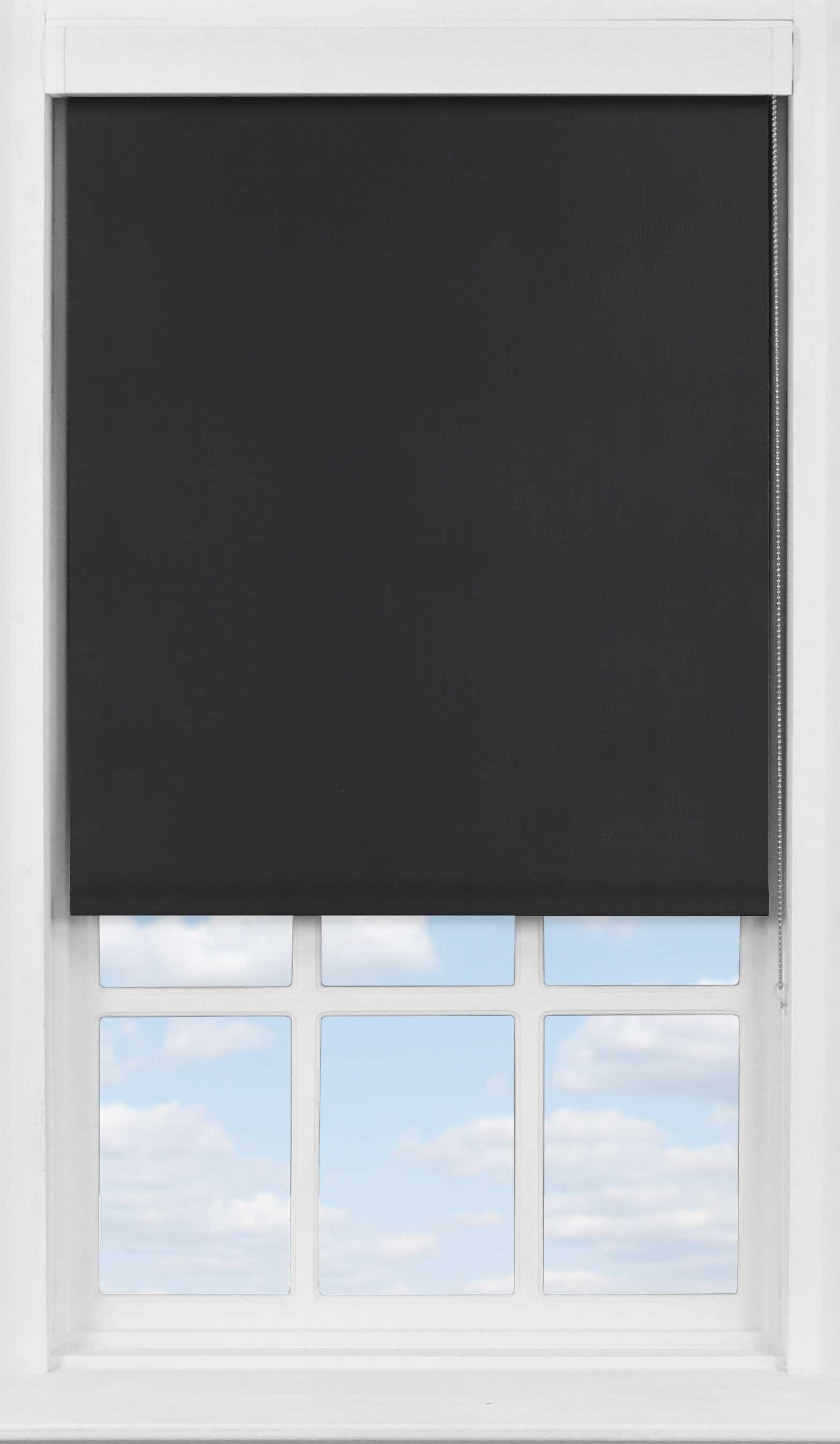 Premium Roller Blind in PVC Black