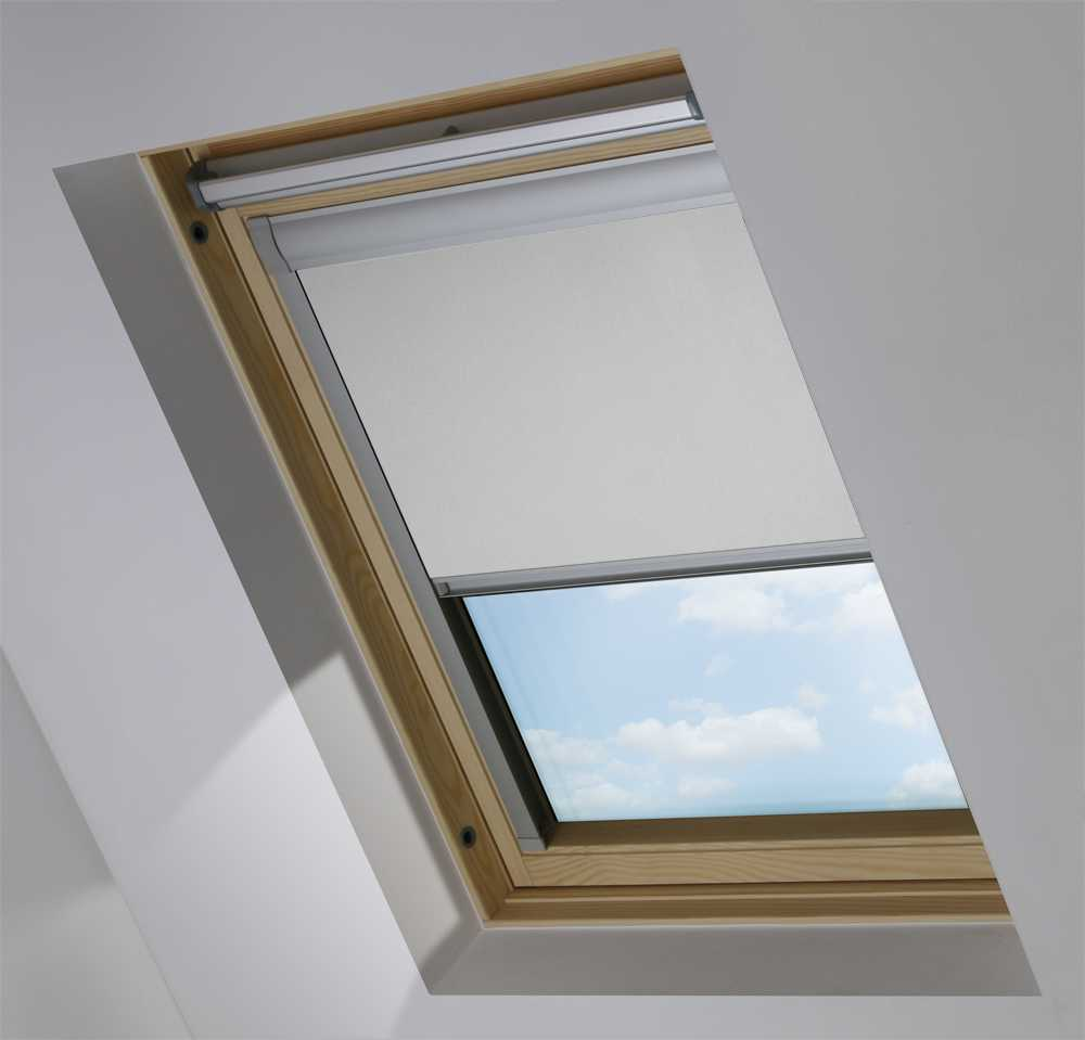 Made-To-Measure Premium Skylight Blind in PVC Grey