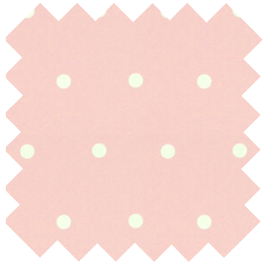 Swatch of Pink Polka Dot Black Out