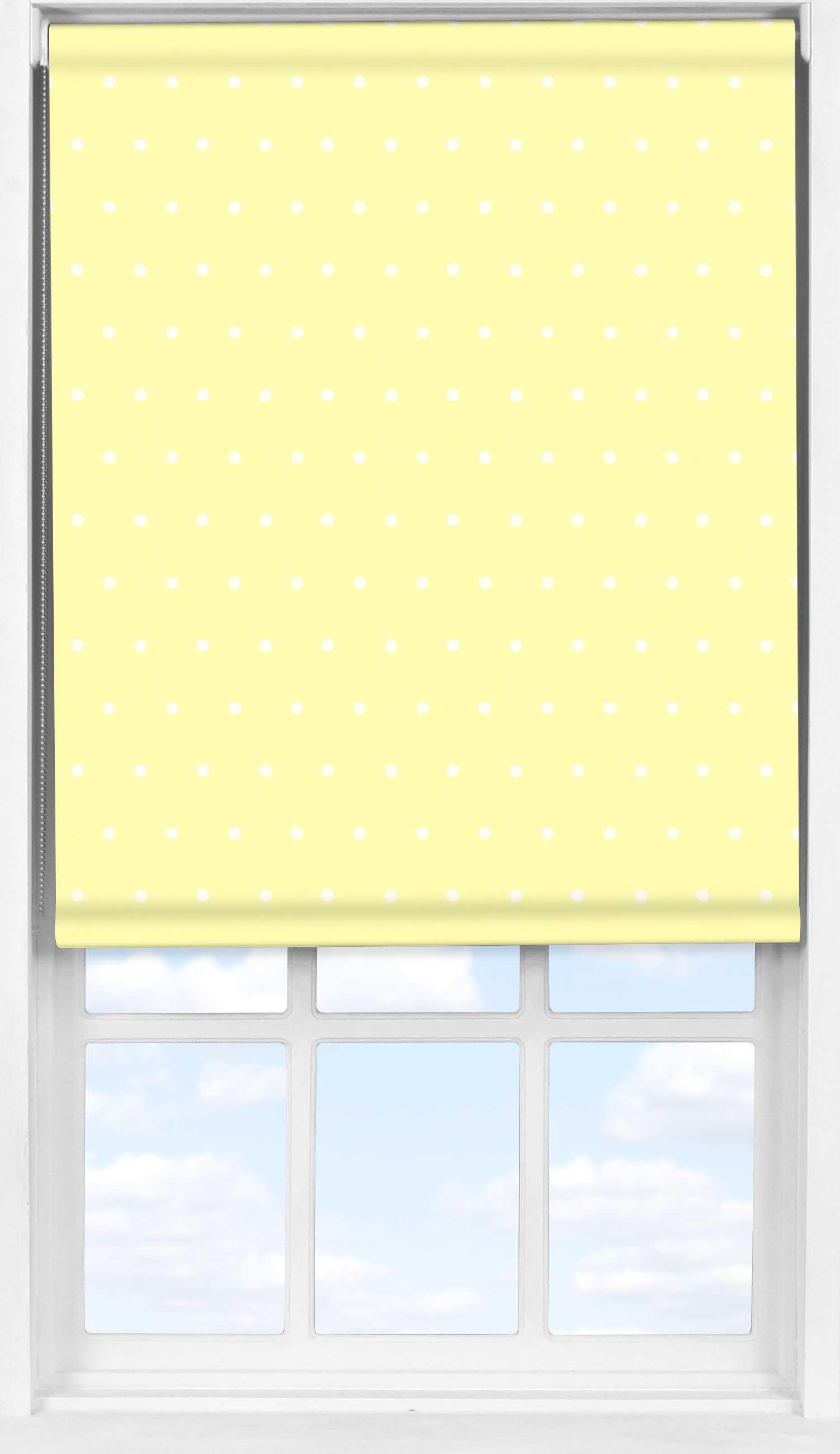 Easifit Roller Blind in Lemon Polka Dot Blackout