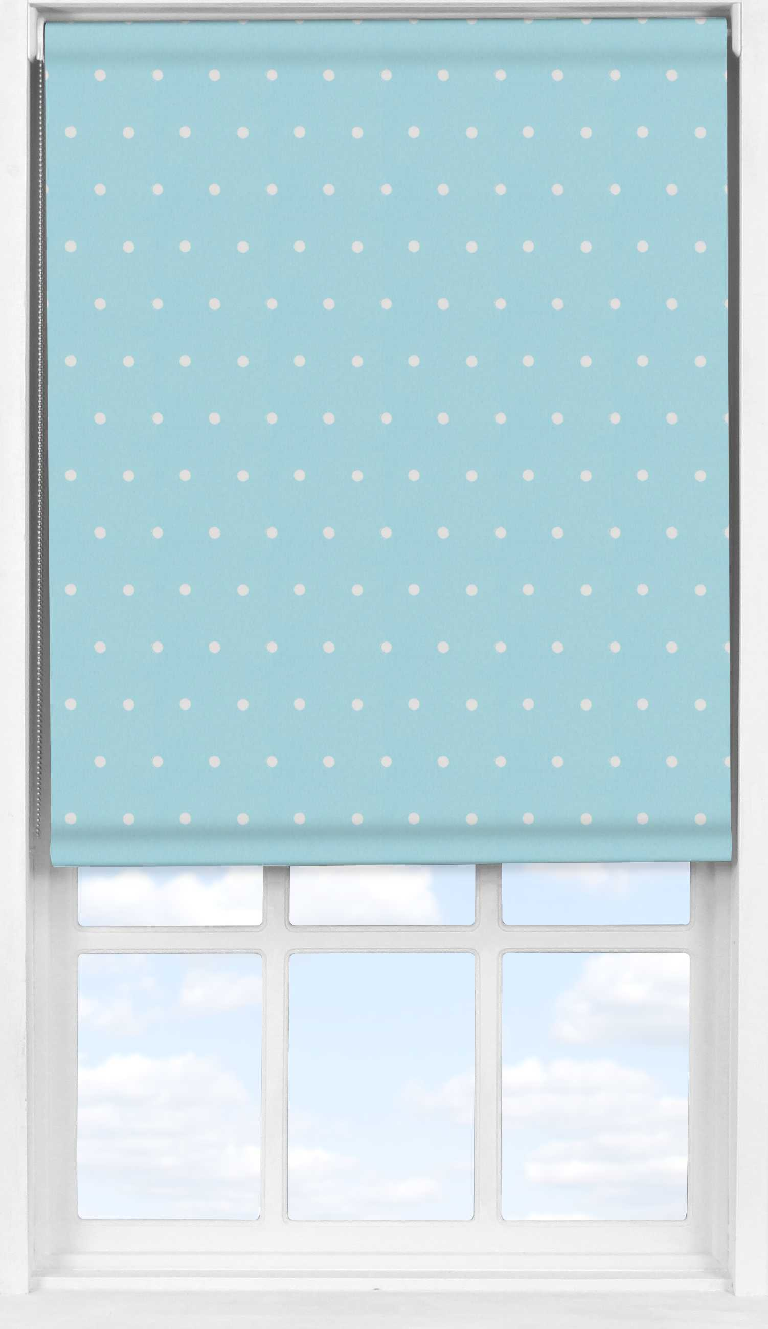 Easifit Roller Blind in Blue Polka Dot Blackout