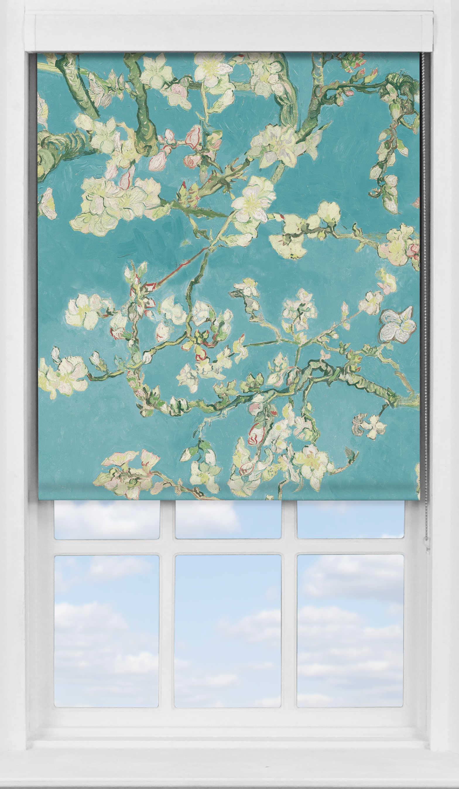 Premium Roller Blind in Van Gogh Almond Blossom Blue Translucent