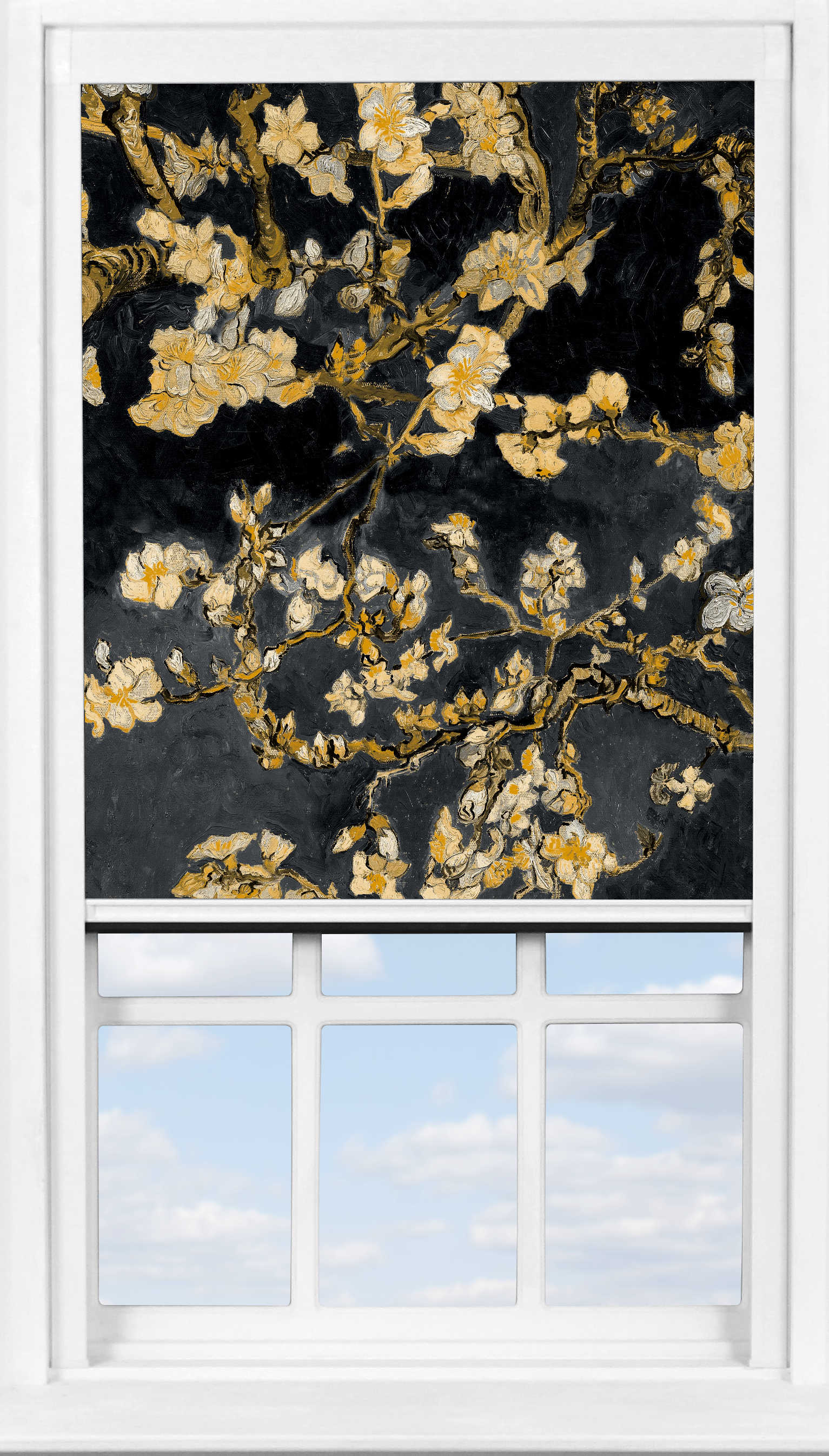 BlocOut™ in Van Gogh Almond Blossom Black Blackout